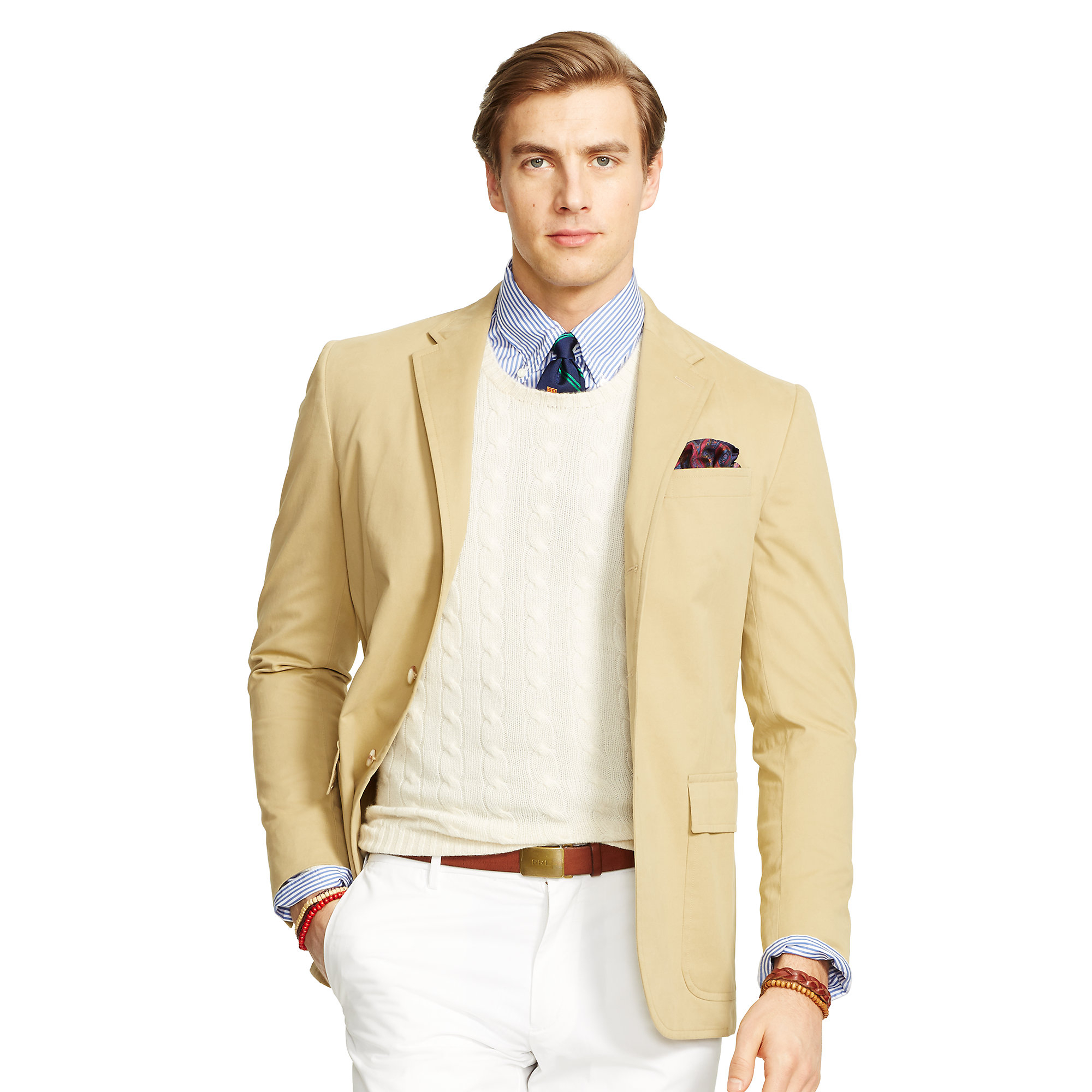 Polo ralph lauren Polo Cotton Sport Coat in Brown for Men ...