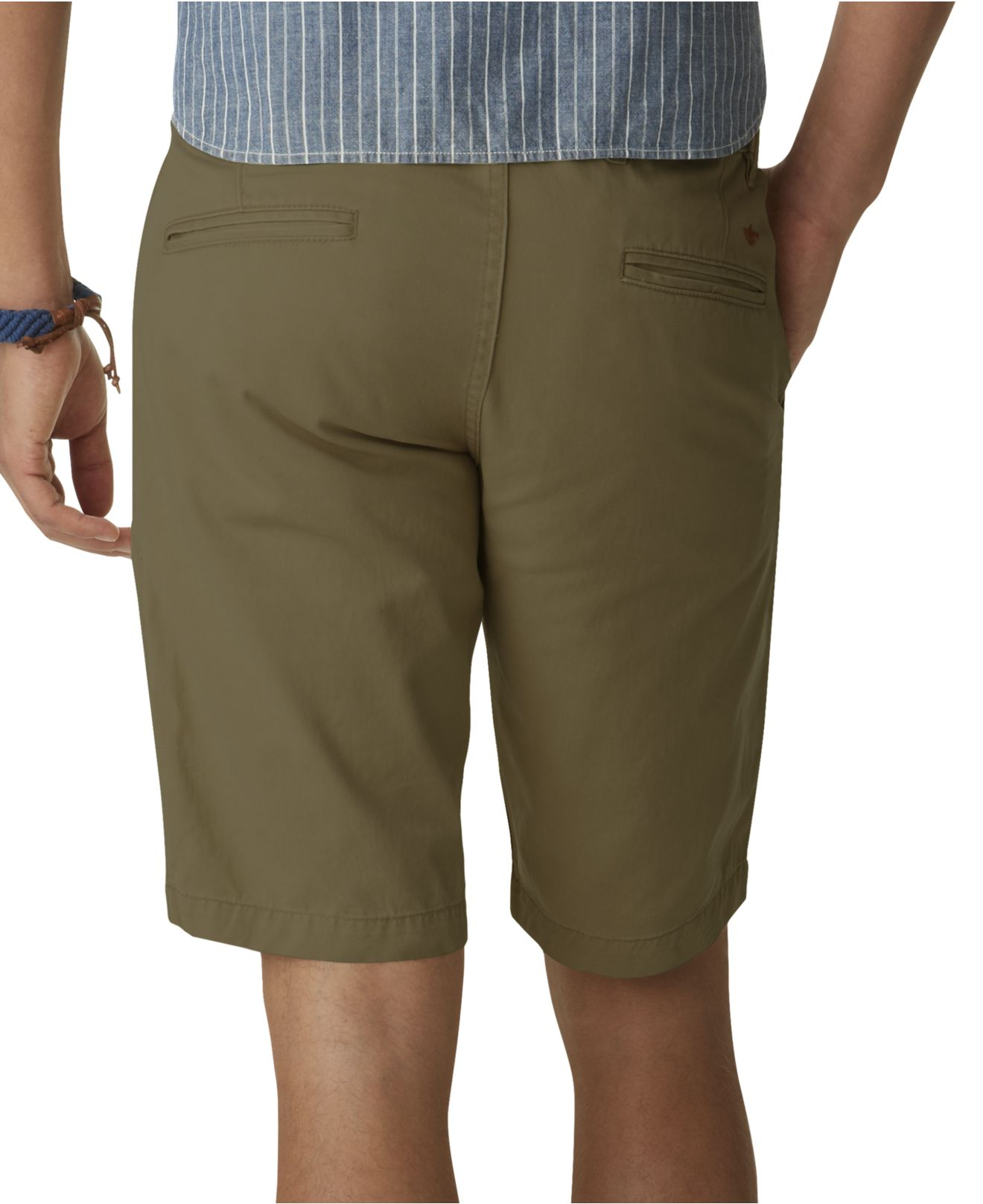 Dockers Alpha Flat Front Khaki Shorts in Green for Men | Lyst