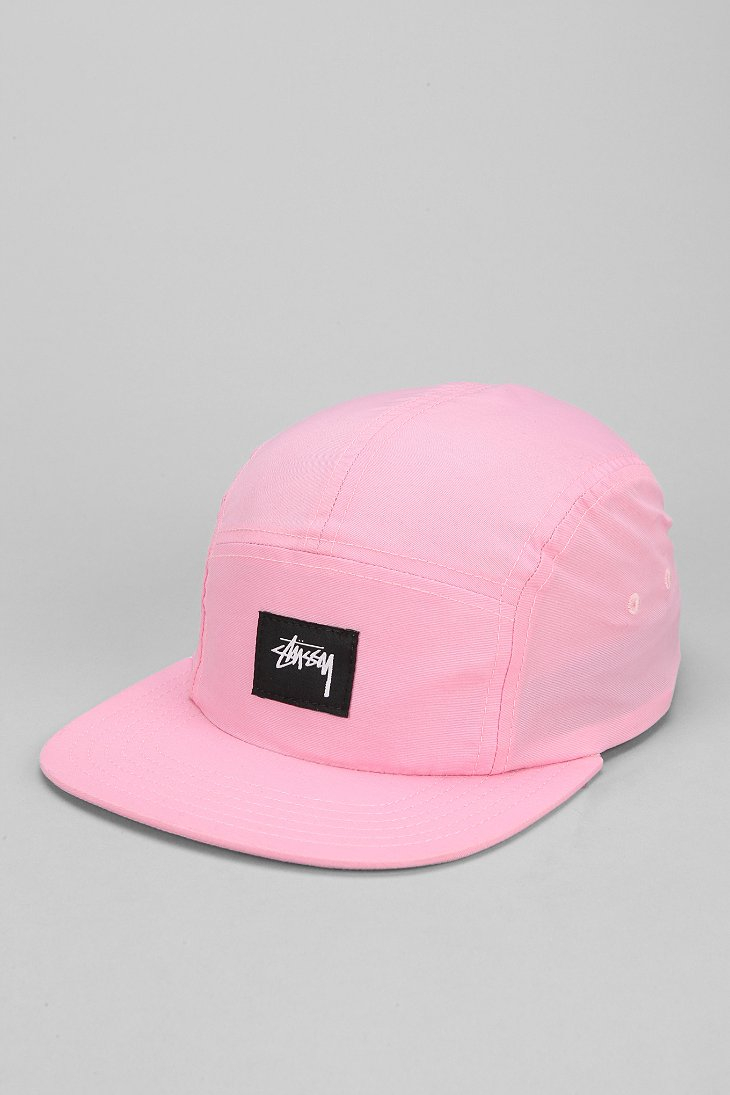Lyst - Stussy Nylon Neon 5panel Hat in Pink for Men ace4e11f5a5