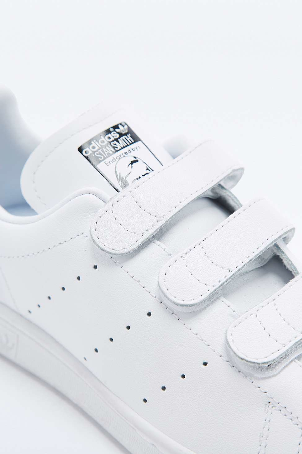 0eda4852a3e5 adidas Originals White Snake Velcro Stan Smith Trainers in White - Lyst