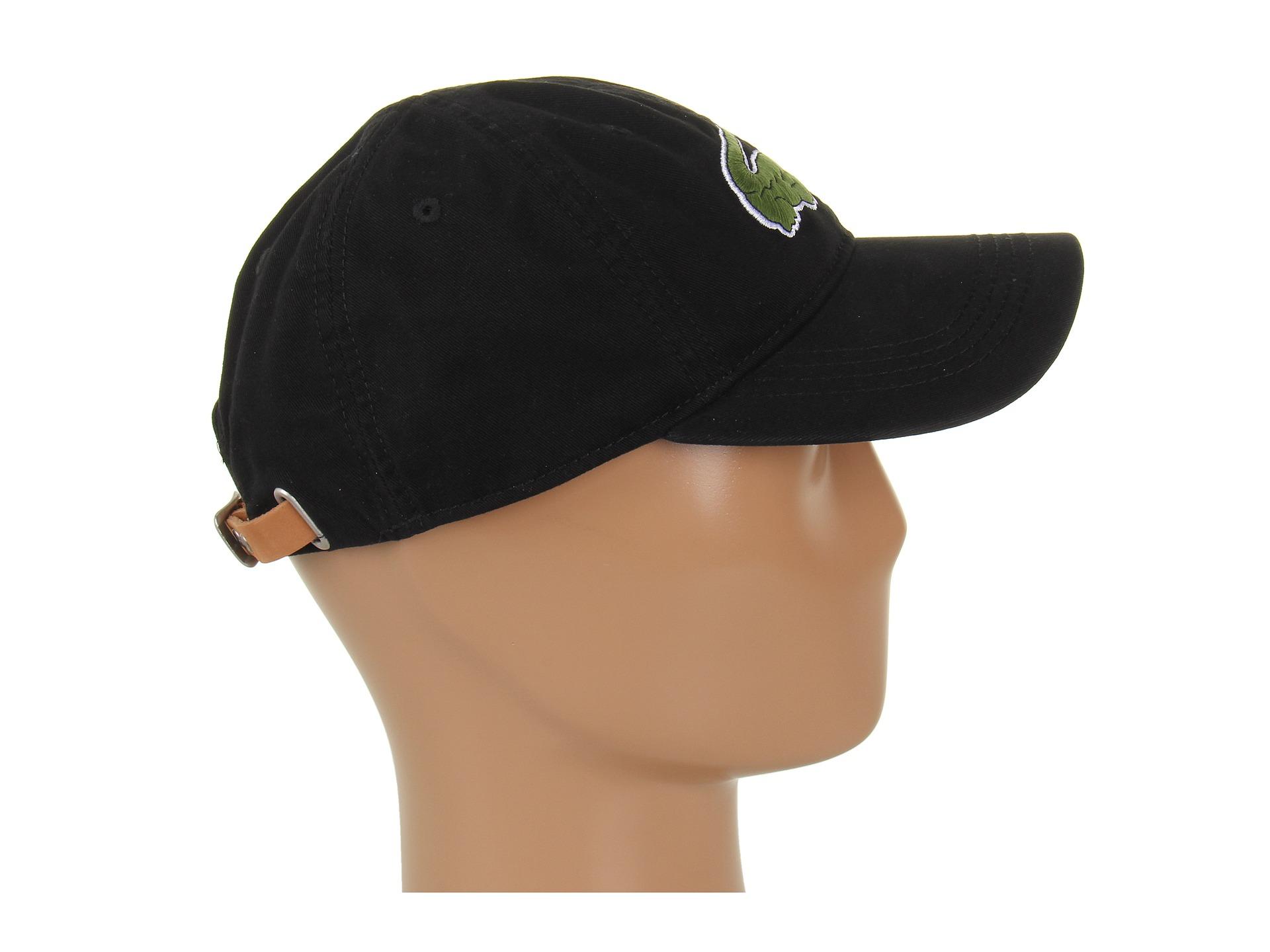 9564010024a9e Lyst - Lacoste Large Croc Gabardine Cap in Black for Men