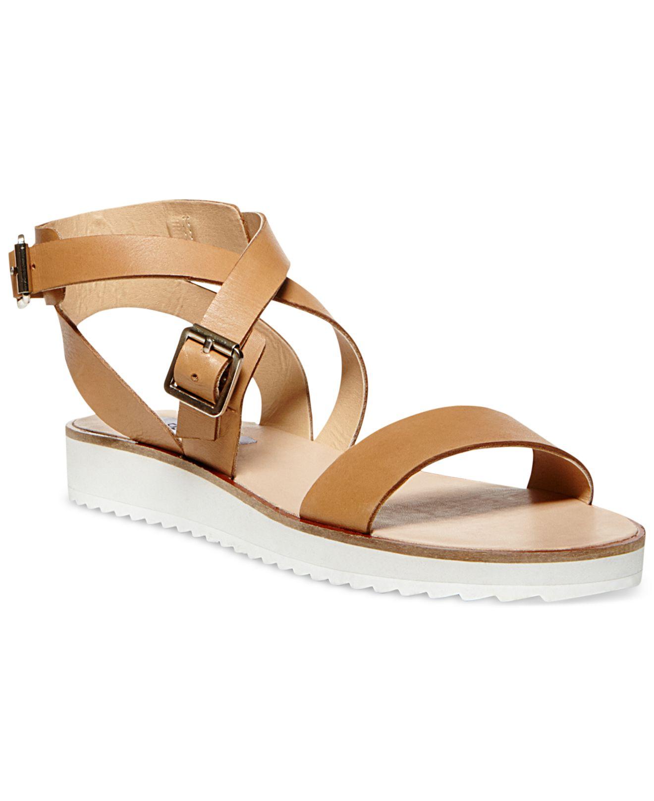 8d35c2d19ed Lyst - Steve Madden Mellow Flatform Sandals in Brown