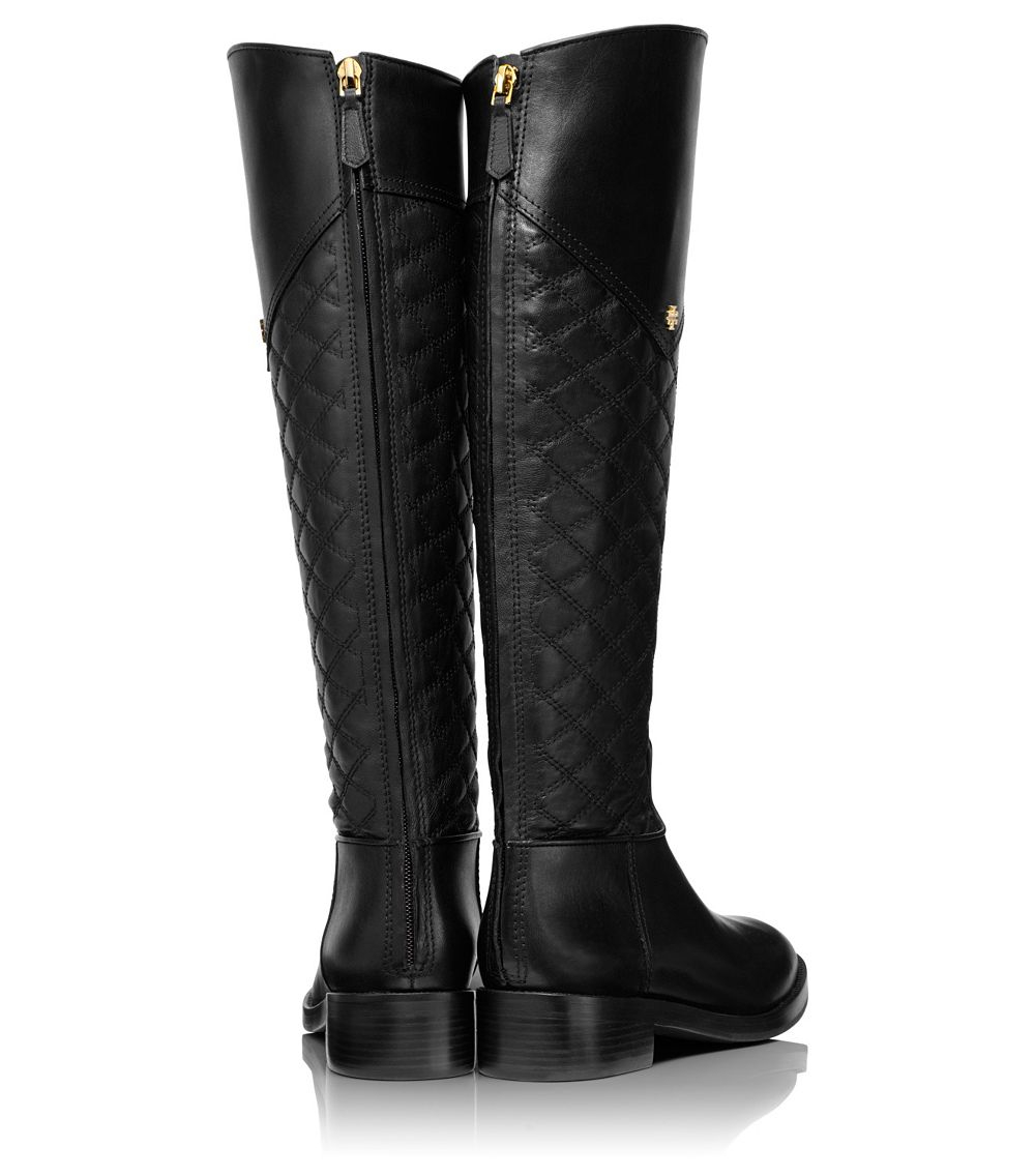 Tory burch Claremont Tall Boot in Black | Lyst