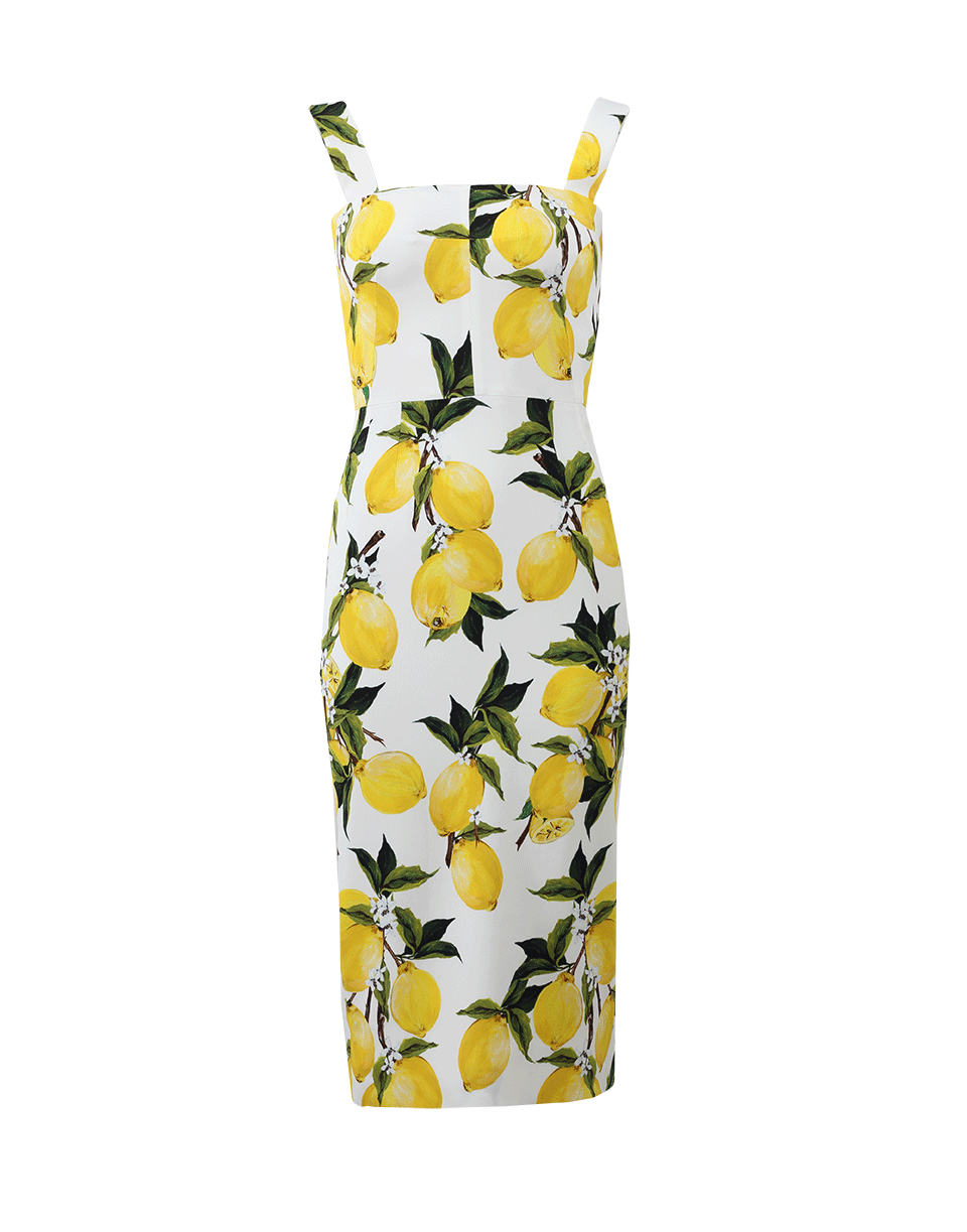 f9cb51cc35b Lyst - Dolce   Gabbana Lemon Print Dress in Yellow
