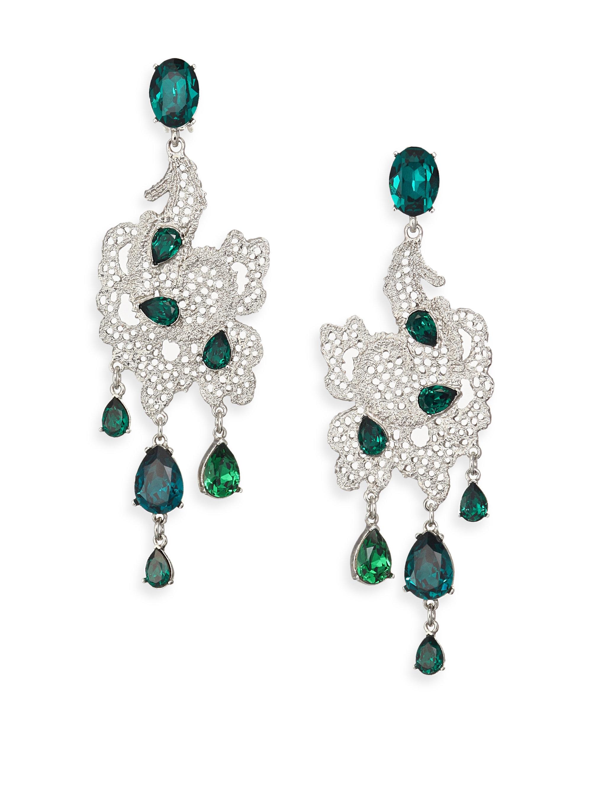 Oscar De La Renta Teardrop Earrings in Metallics vApRqtNv