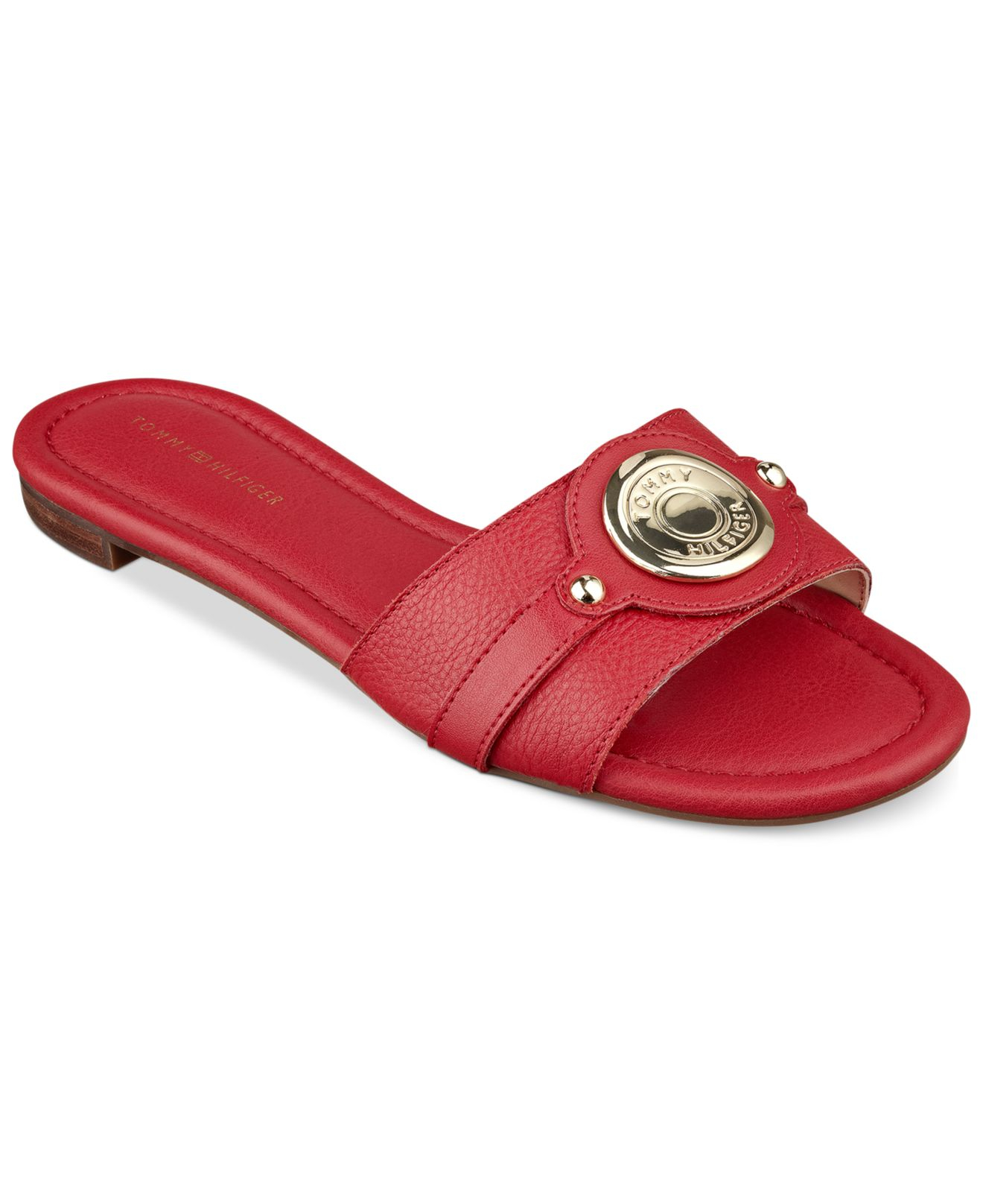 3be2135bdfc Lyst - Tommy Hilfiger Women S Icela Slide Sandals in Red