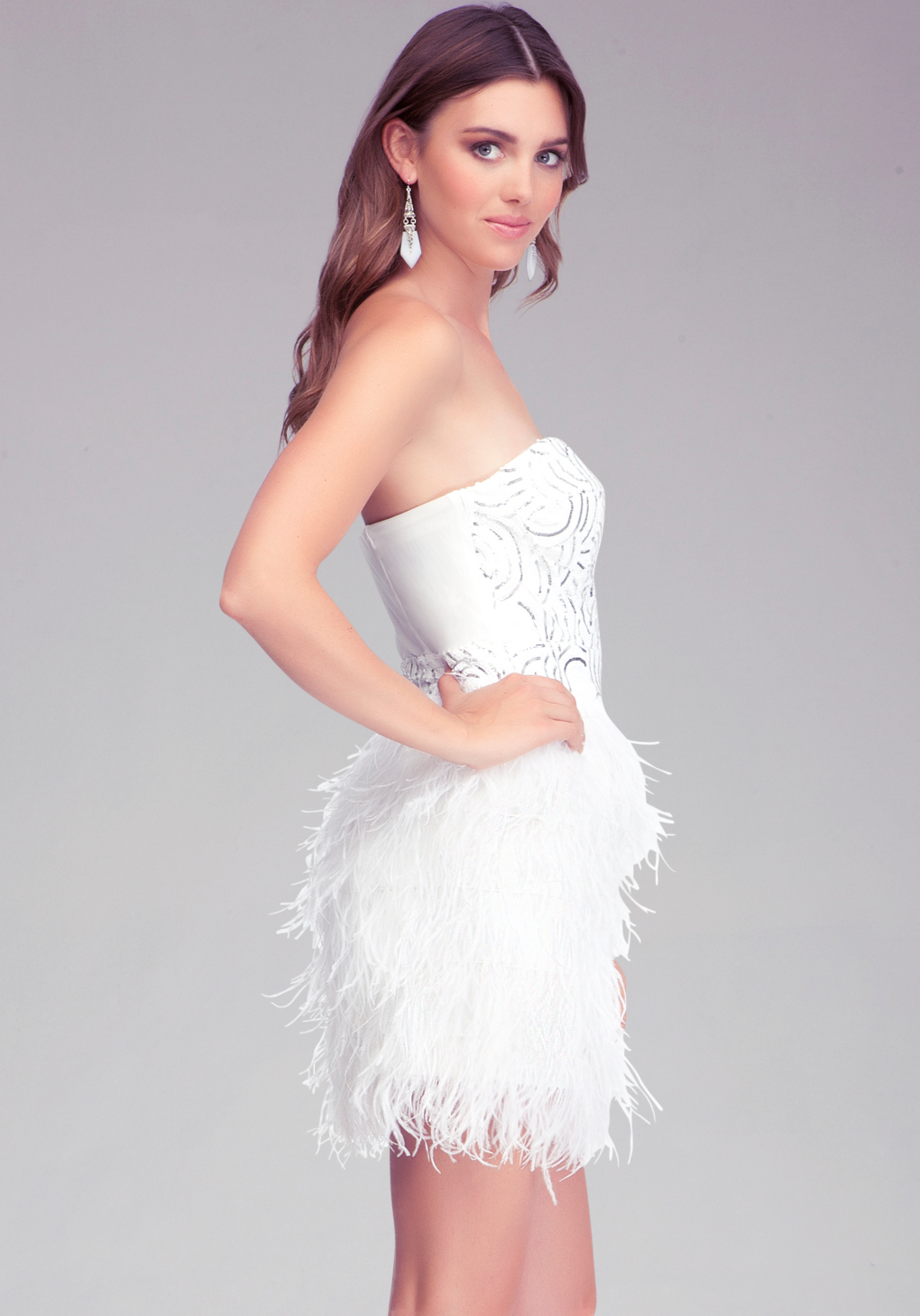 bebe white isis sequin feather dress product 1 11918914 1 793280300 normal