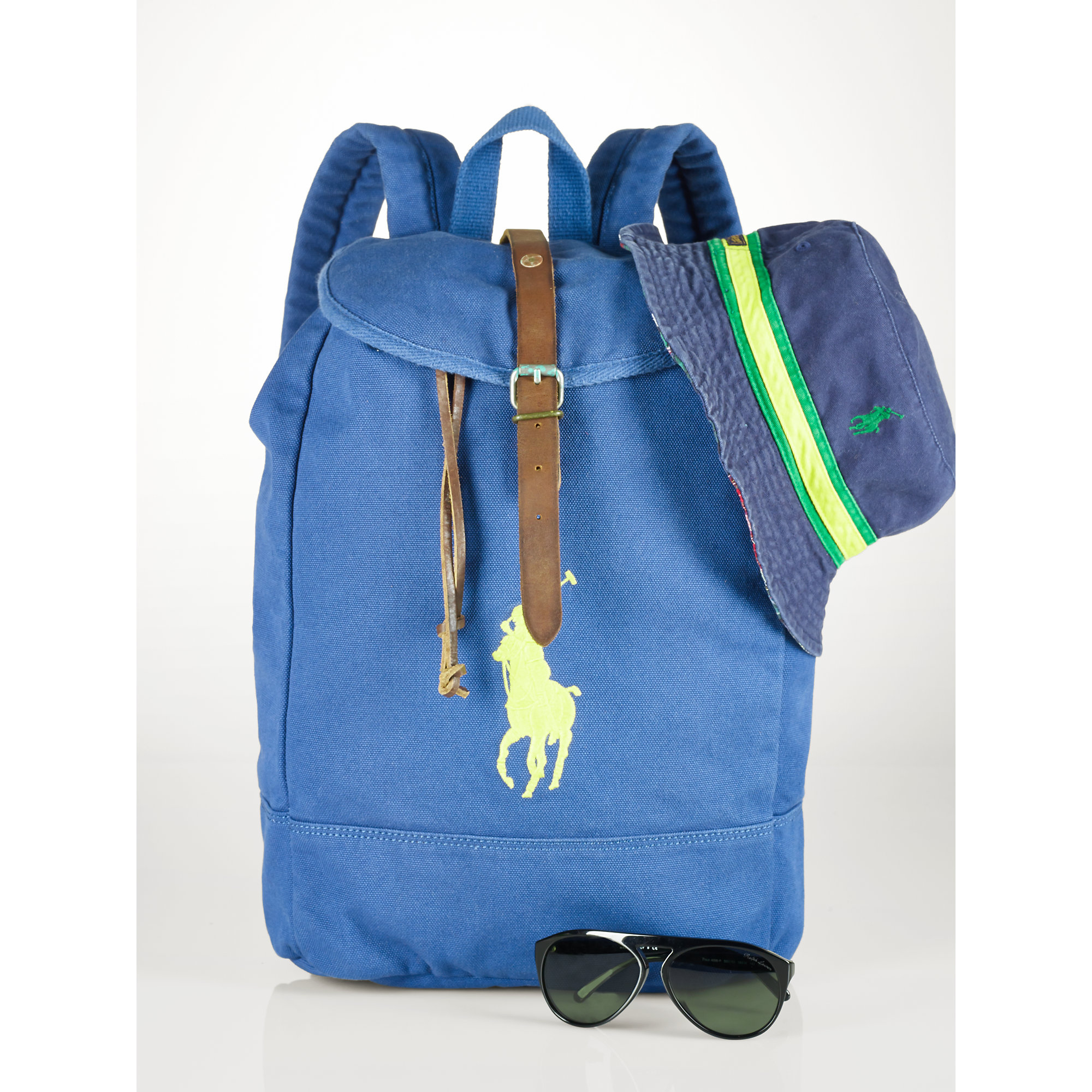 Lyst - Polo Ralph Lauren Big Pony Backpack in Blue for Men 9a7a478359ad1