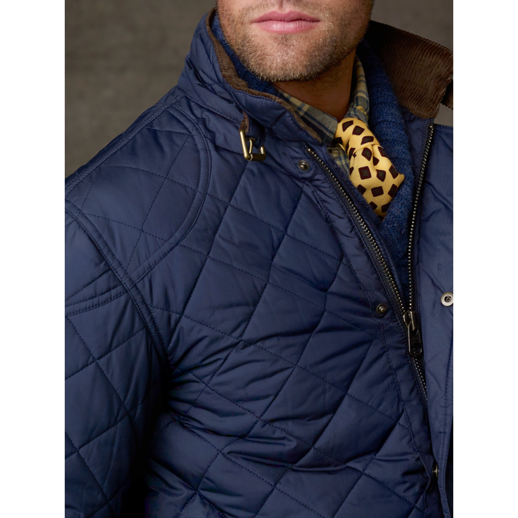 Lyst Polo Ralph Lauren Cadwell Quilted Bomber Jacket In Blue For Men
