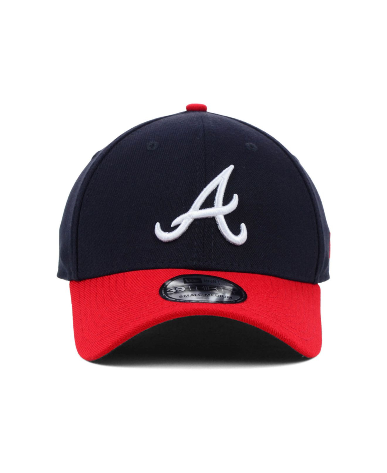 new arrival f968f 029fd ... authentic lyst ktz atlanta braves mlb team classic 39thirty cap in blue  for men 78e6e 3e988