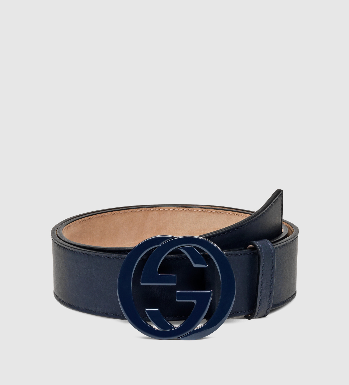 482a0ad7b ... Gucci Blet: Gucci Leather Belt With Interlocking G Buckle In