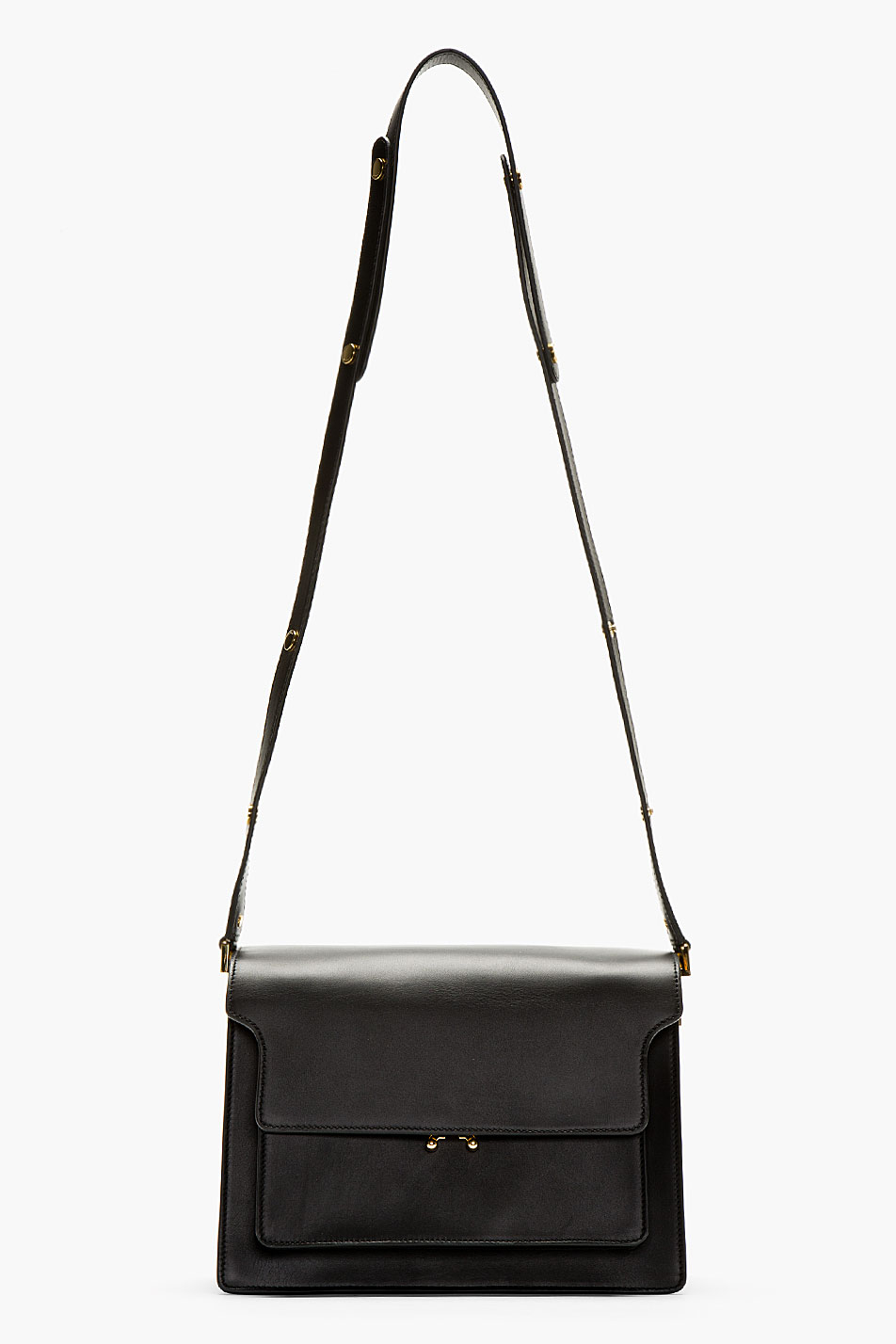 Marni Black Leather Small Shoulder Bag in Black | Lyst