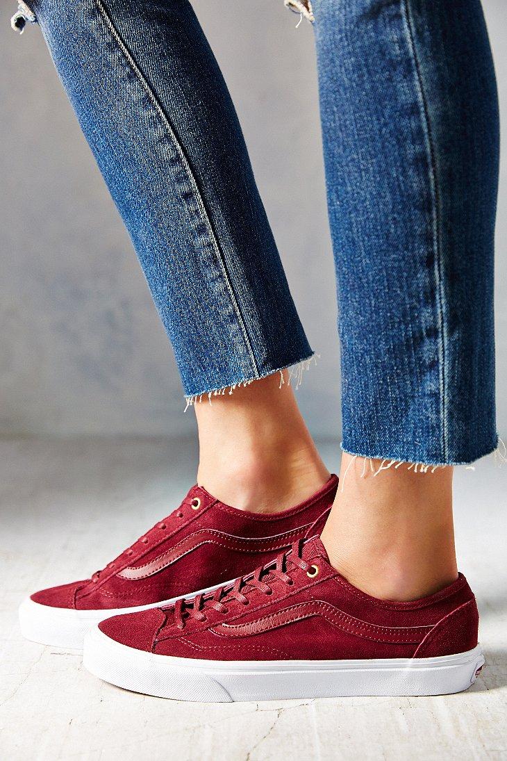 7d32080531 Lyst - Vans Suede 36 Slim Low-Top Women S Sneaker in Purple