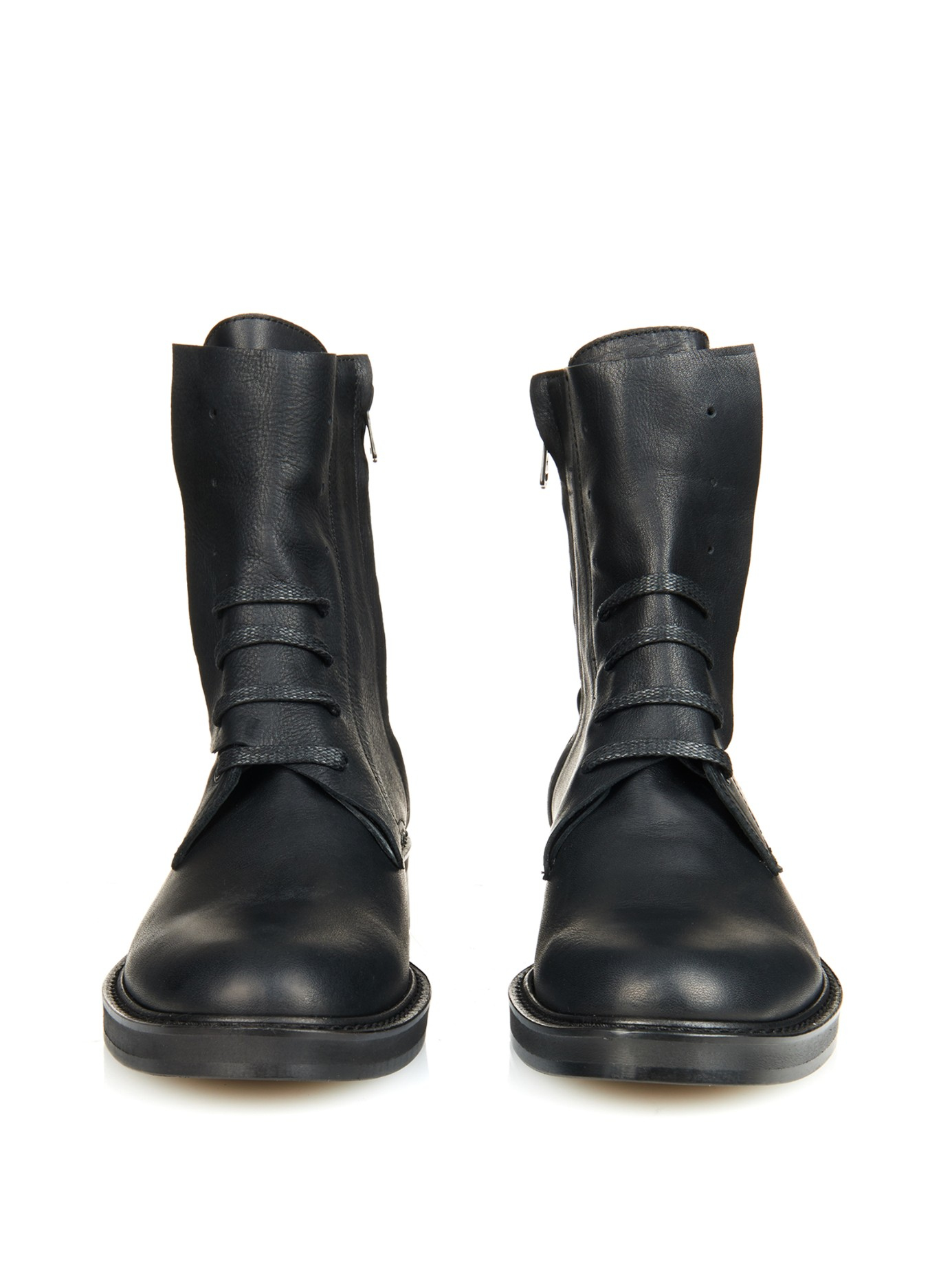 very cheap online Y's by Yohji Yamamoto Leather Mid-Calf Boots cheap sale 2014 unisex nicekicks sale online clearance get authentic sale extremely 4UE4cT4t