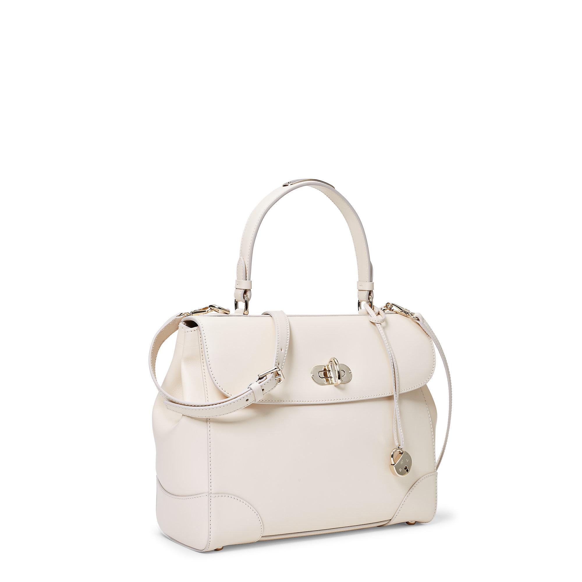44e148f8b7 Lyst Pink Pony Medium Calfskin Tiffin Bag In White. Lauren Ralph Cornwall  Pebbled Leather Slouch Hobo