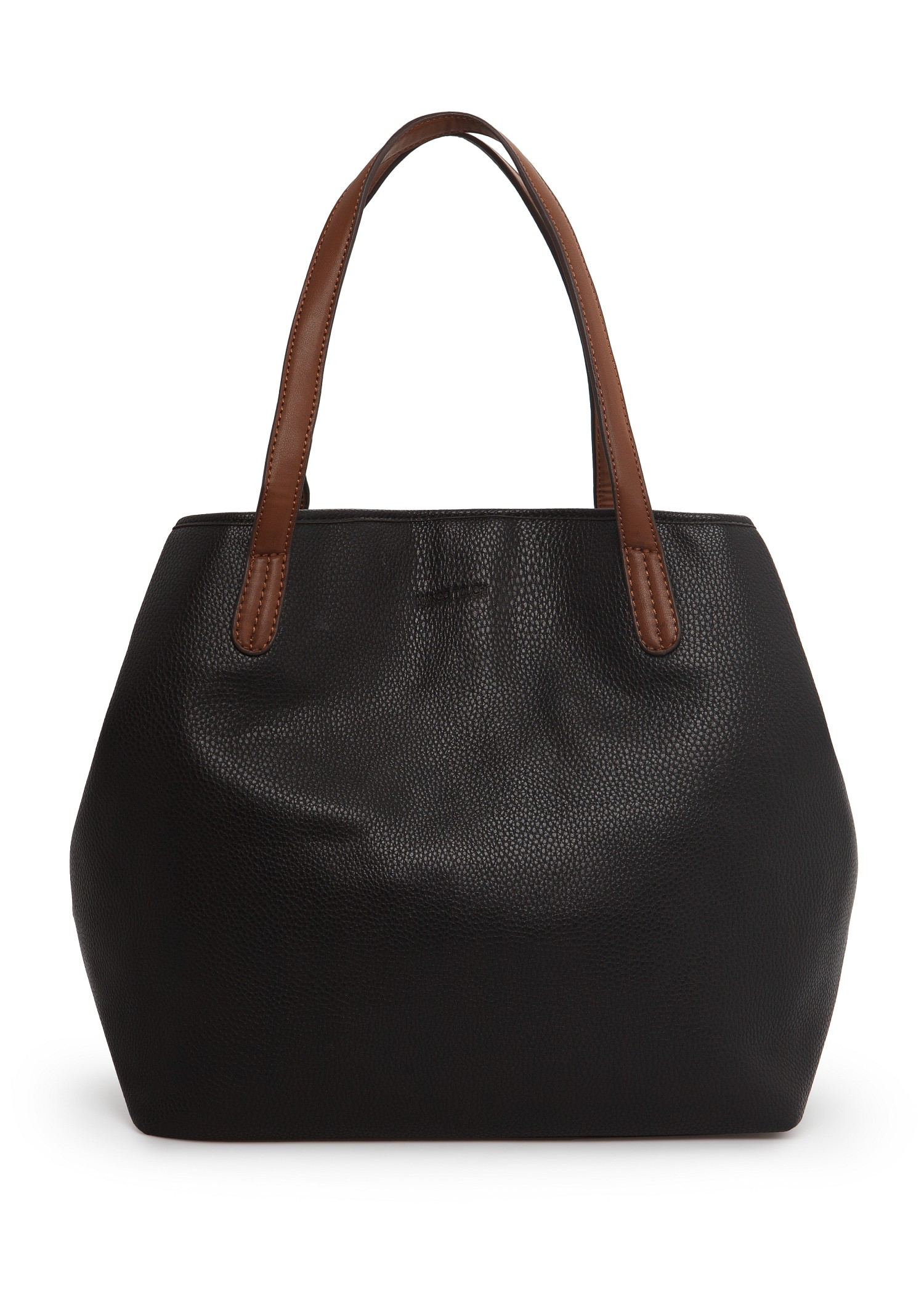 Mango Adjustable Shape Shopper Bag in Black | Lyst
