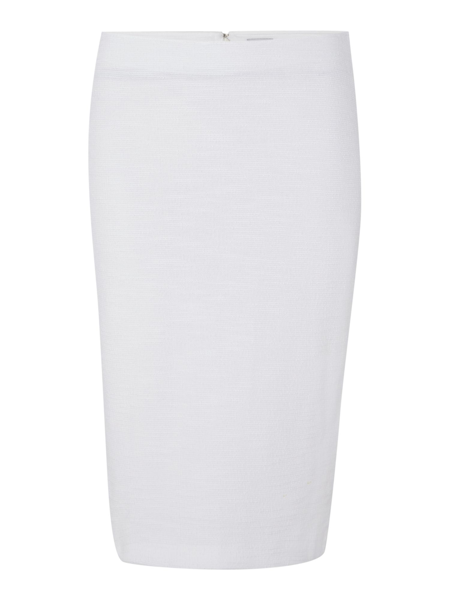 Armani Cotton Pencil Skirt in White | Lyst