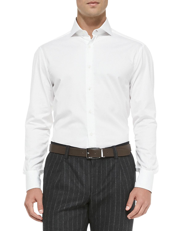 Lyst Brunello Cucinelli Slim Fit Button Down Shirt In