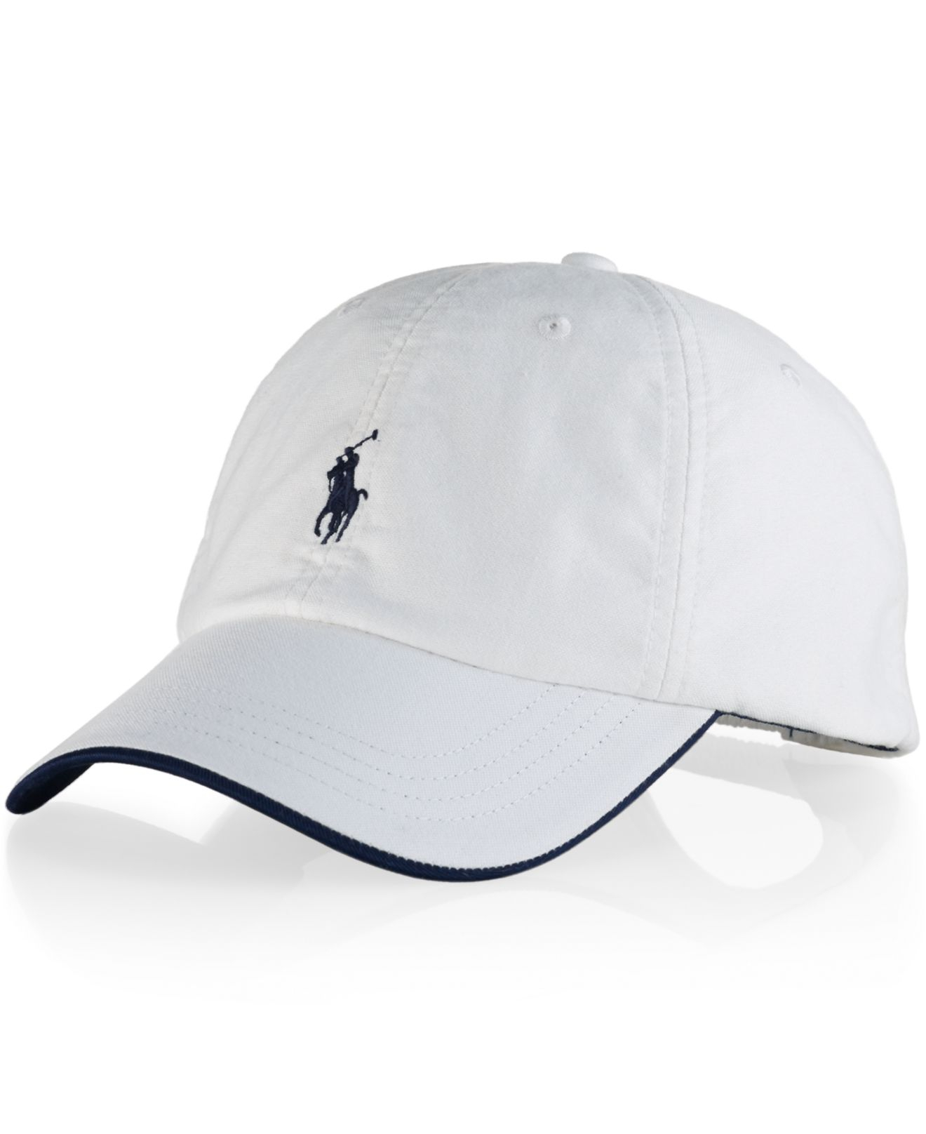 polo ralph lauren oxford heritage cap in white for men lyst. Black Bedroom Furniture Sets. Home Design Ideas
