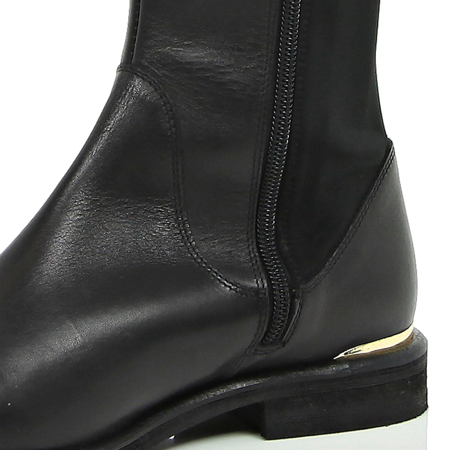 4465008d6f1 River Island Black Leather Over The Knee Boots in Black - Lyst