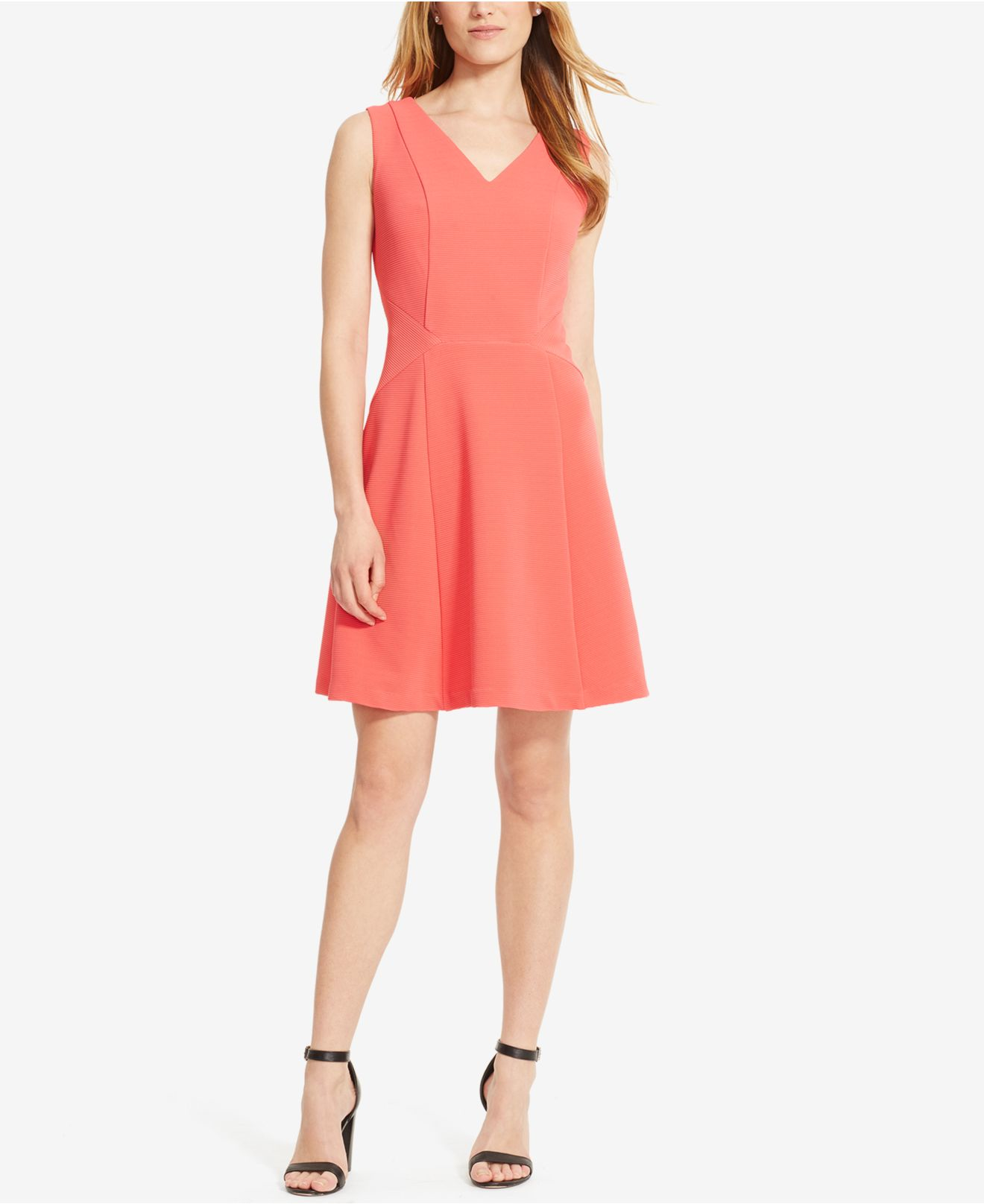 American Living Sleeveless Rib Knit Dress In Pink Lyst
