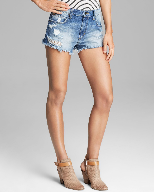 Joe's jeans Shorts High Rise Cutoff in Zuni in Blue | Lyst