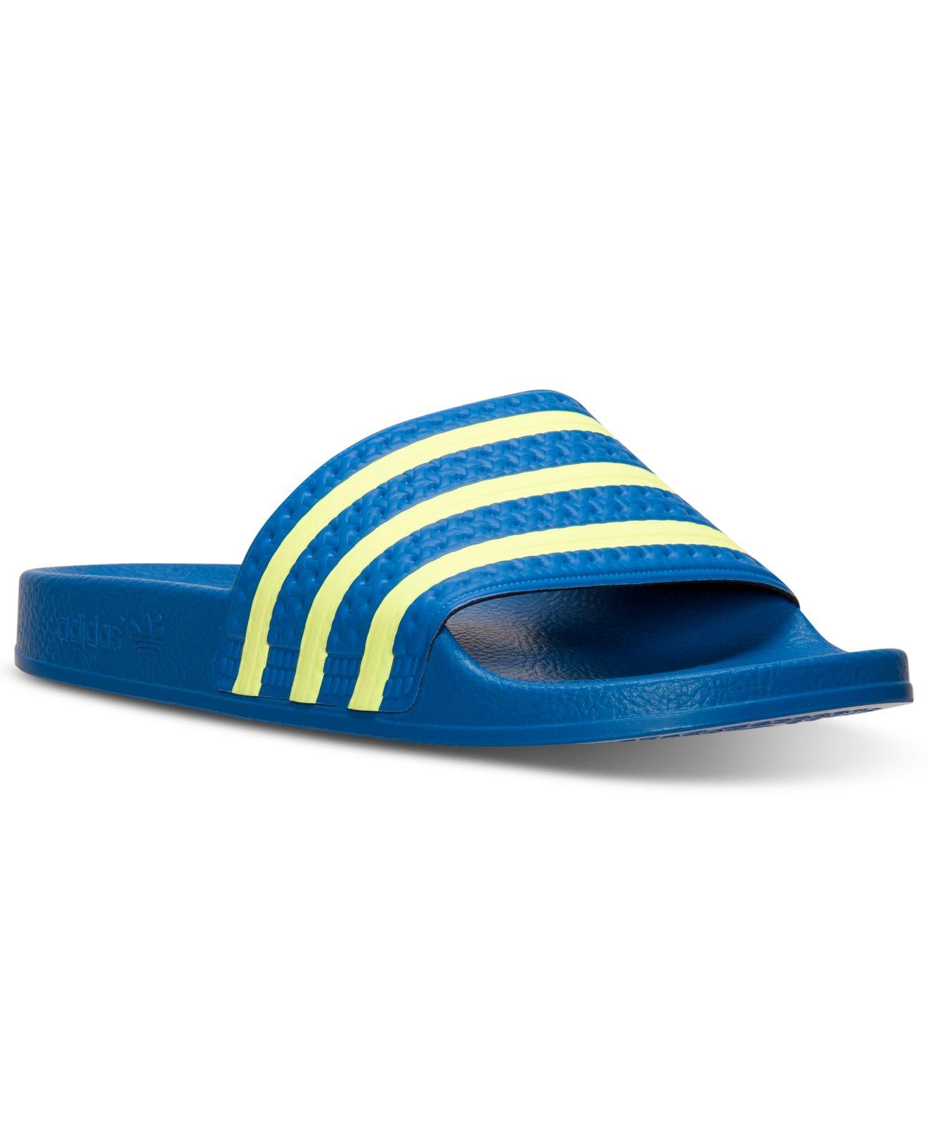 81b22e43b adidas Originals Men's Adilette Slide Sandals From Finish Line in ...