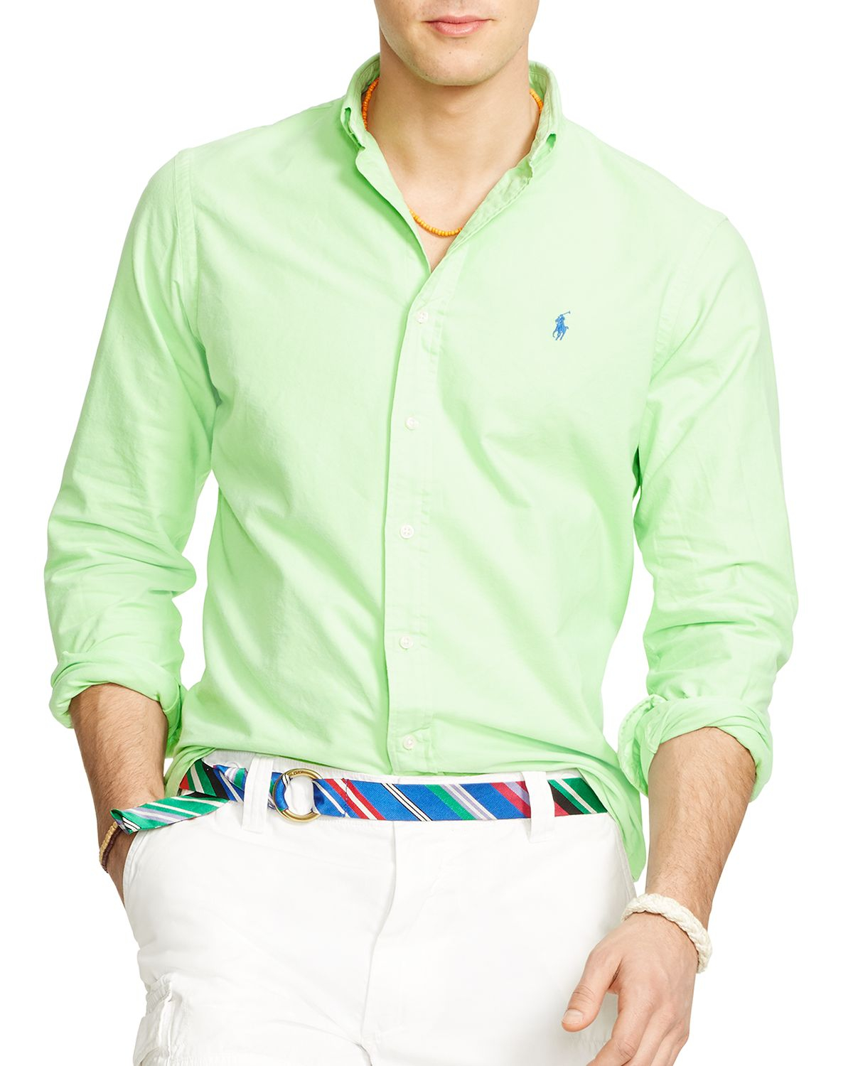 Ralph lauren Polo Oxford Button Down Shirt - Regular Fit in Green ...