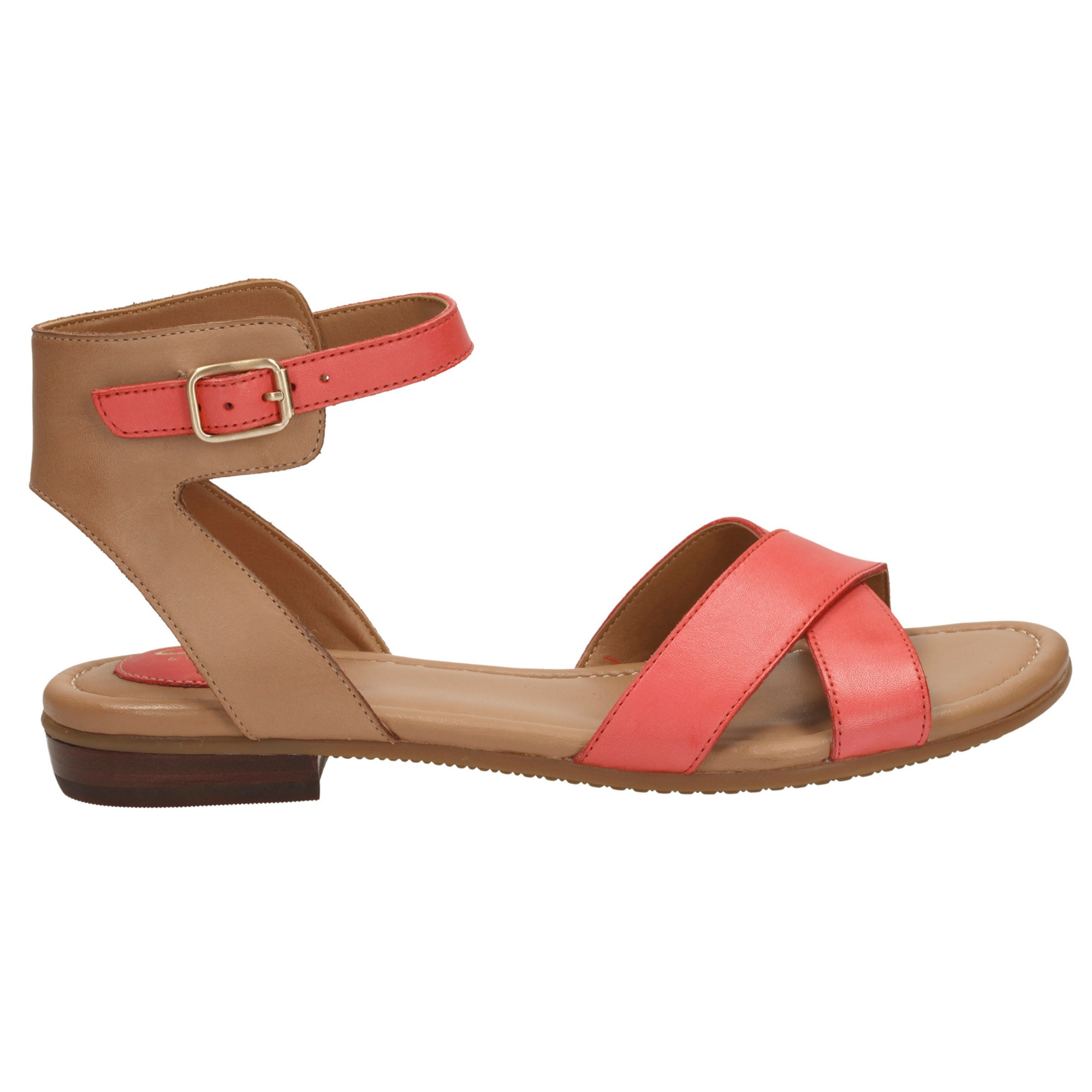 bcf2ec87f364 Clarks Viveca Zeal Leather Ankle Strap Sandals in Pink - Lyst