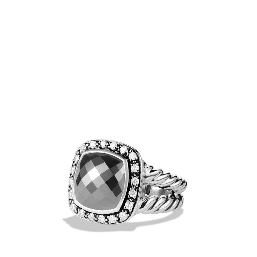 Lyst david yurman albion ring with hematine and diamonds for David yurman inspired jewelry rings