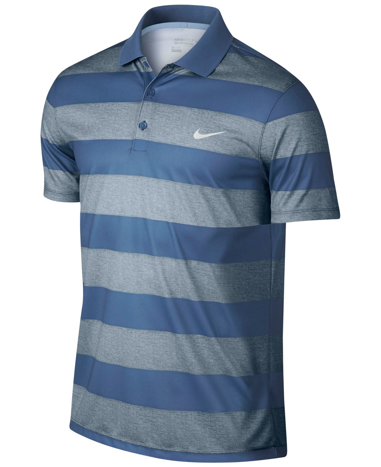 5e025a331 Lyst - Nike Men s Victory Bold Dri-fit Golf Polo in Black for Men