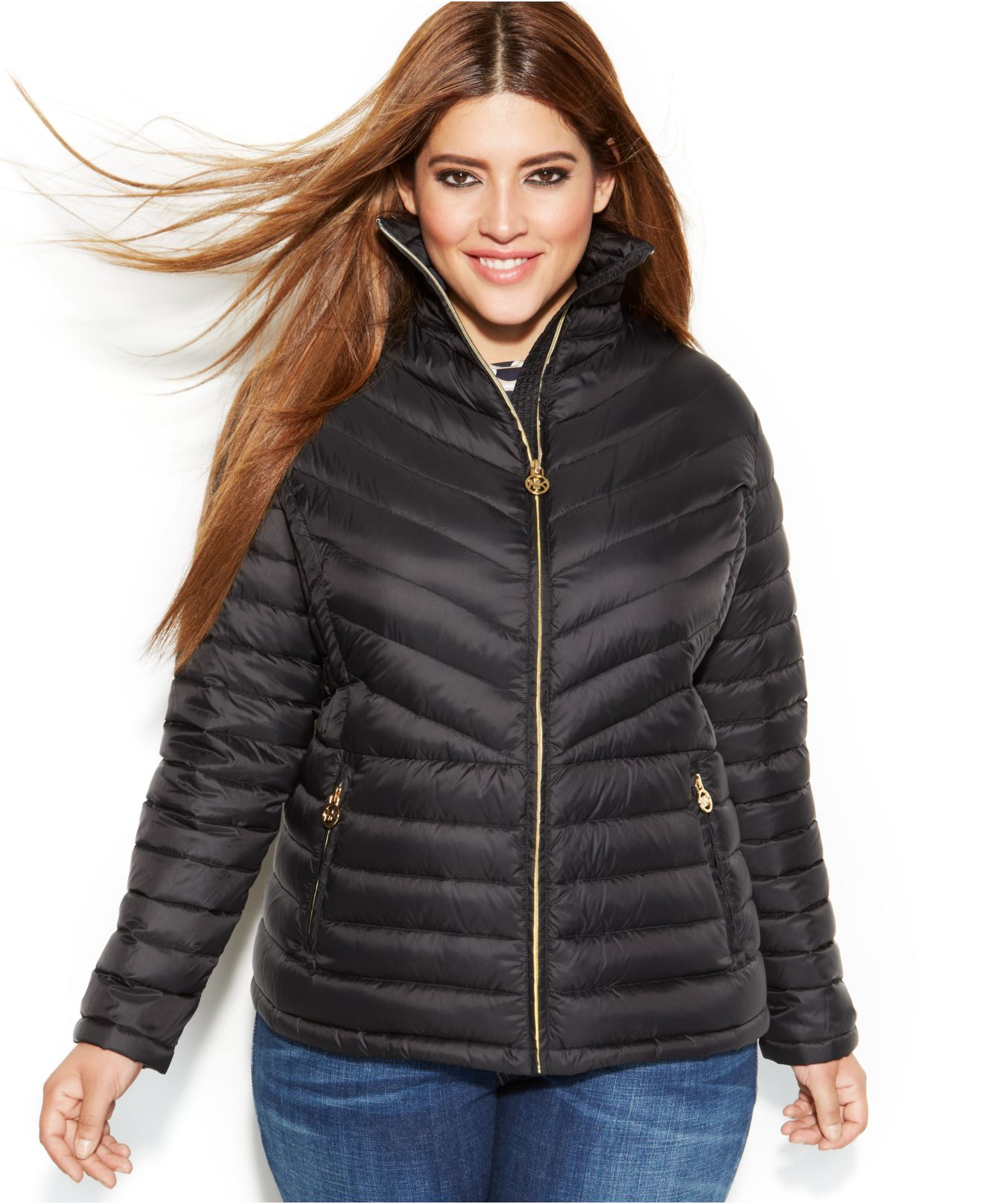 dfb6fb11c5e Lyst - Michael Kors Michael Plus Size Packable Quilted Down Puffer ...