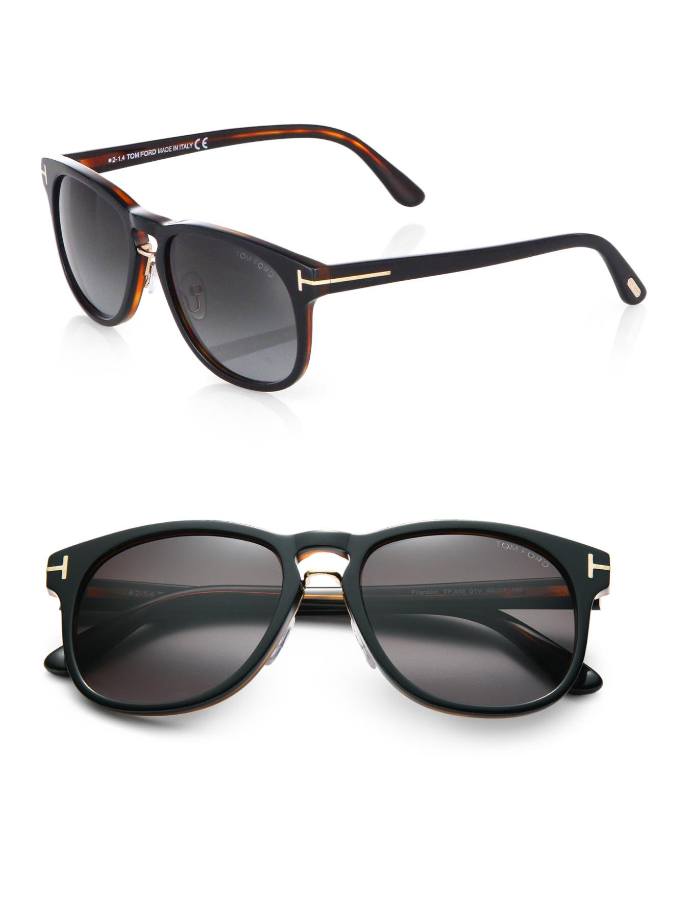 tom ford franklin sunglasses in black for men lyst. Black Bedroom Furniture Sets. Home Design Ideas