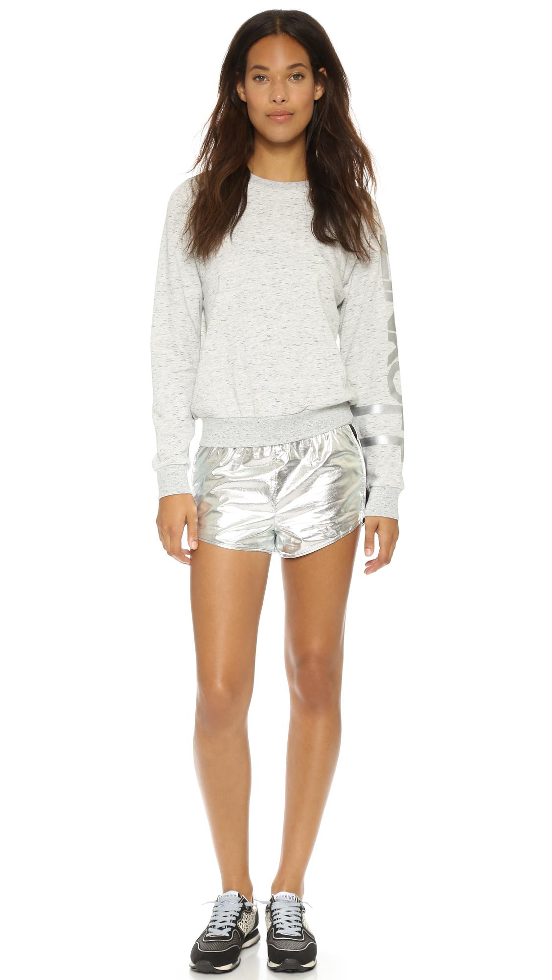 Rebecca minkoff Rm Active Ana Sweatshirt in Gray (Grey) | Lyst