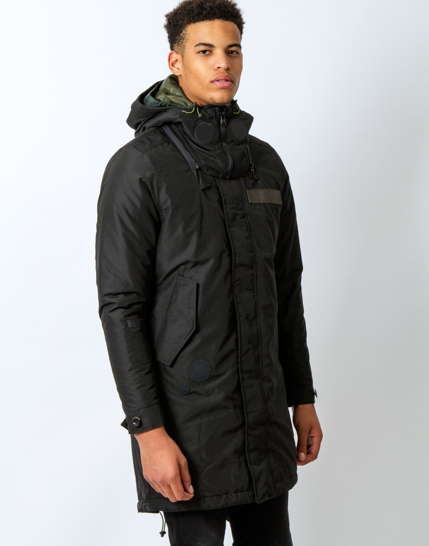 g star raw submarine parka black in black for men lyst. Black Bedroom Furniture Sets. Home Design Ideas