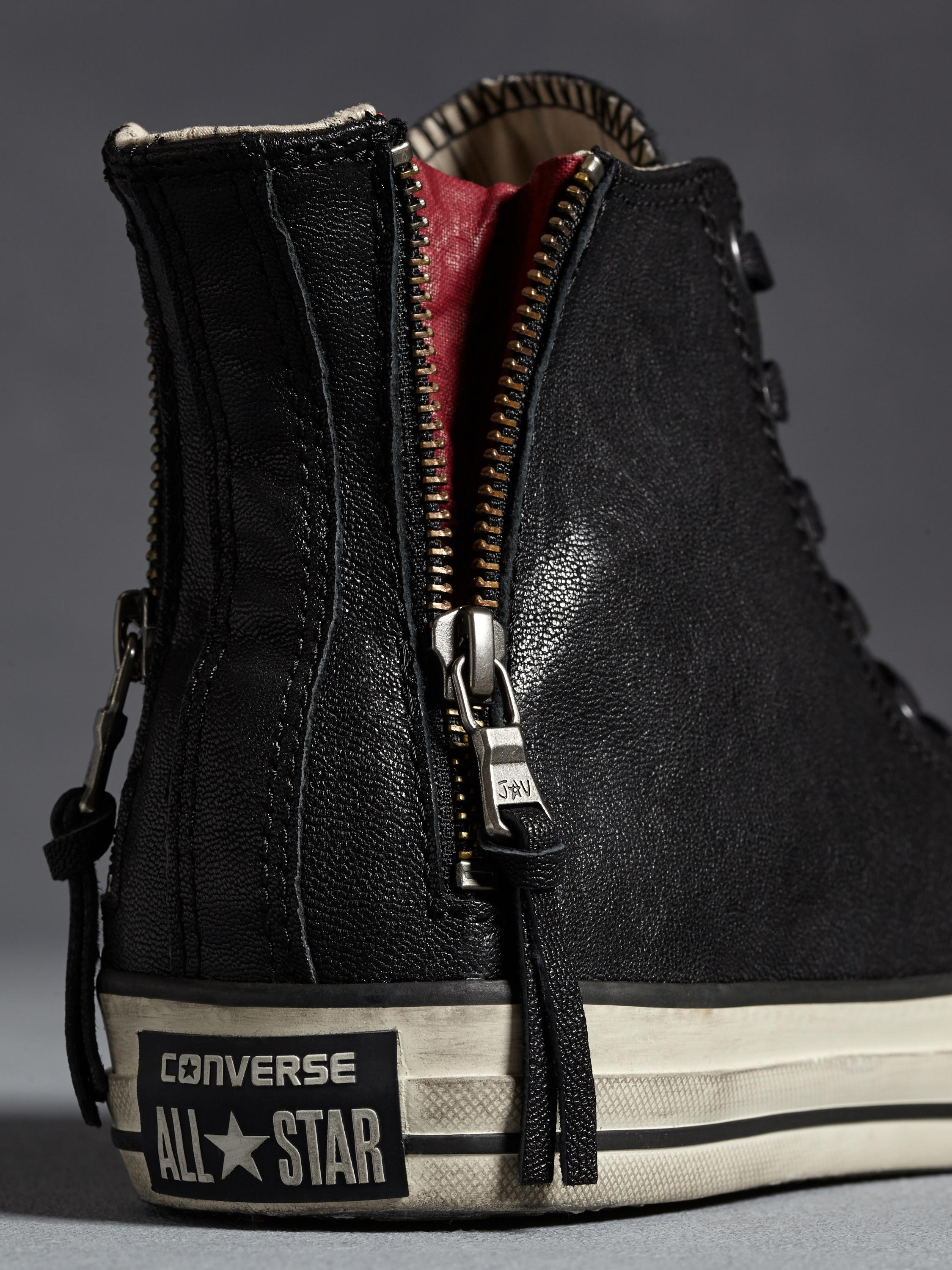 ccdd1002b01b35 Lyst - John Varvatos All Star Quito Leather Double Heel Chuck Taylor in  Black for Men
