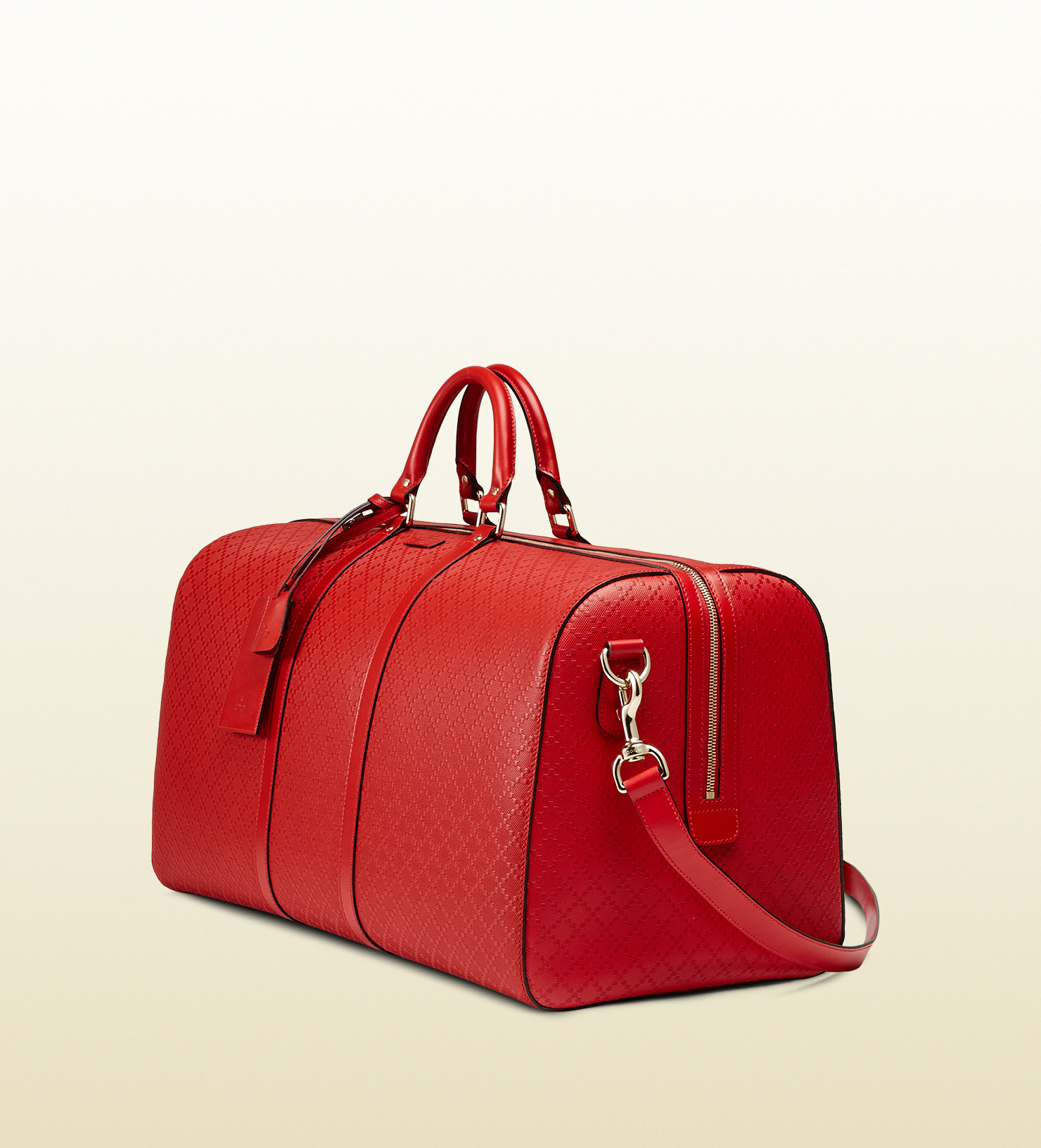 0e1e7e6e4c0d Lyst gucci bright diamante leather carry on duffle bag in red jpg 1480x1632 Red  duffle bag