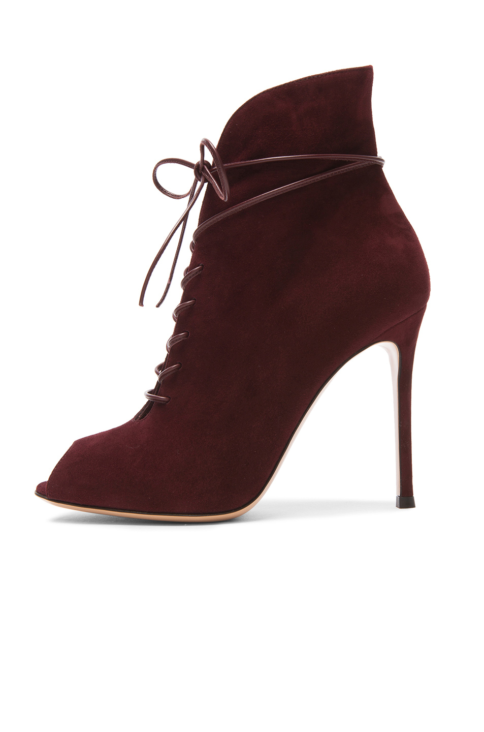 Gianvito Rossi Peep-Toe Lace Ankle Boots extremely cheap price i2Xl1U77i