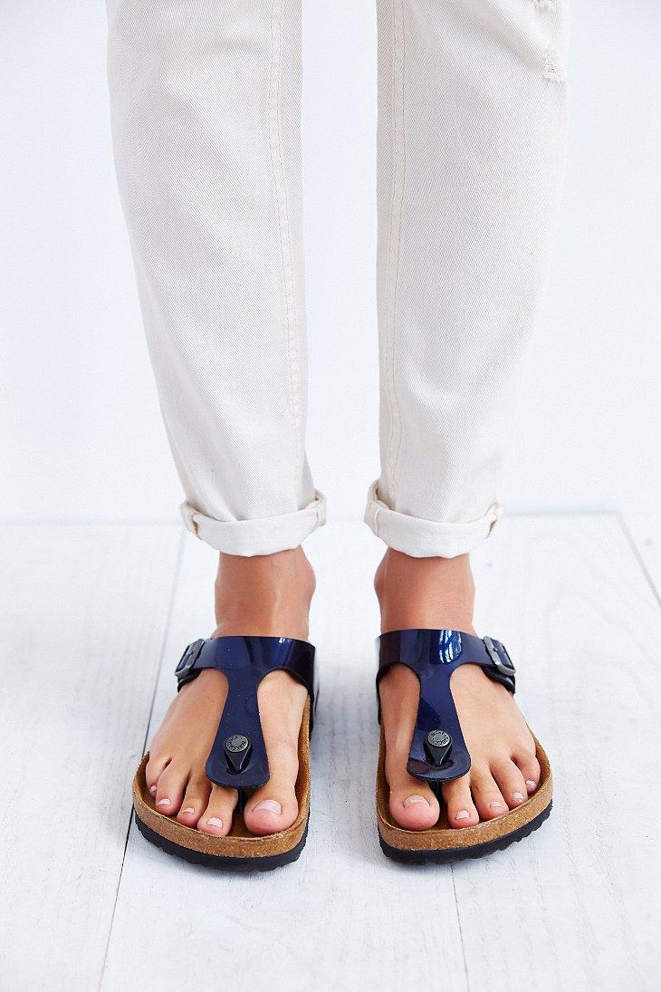 4f13fae4f32c88 Lyst - Birkenstock Gizeh Thong Sandal in Blue