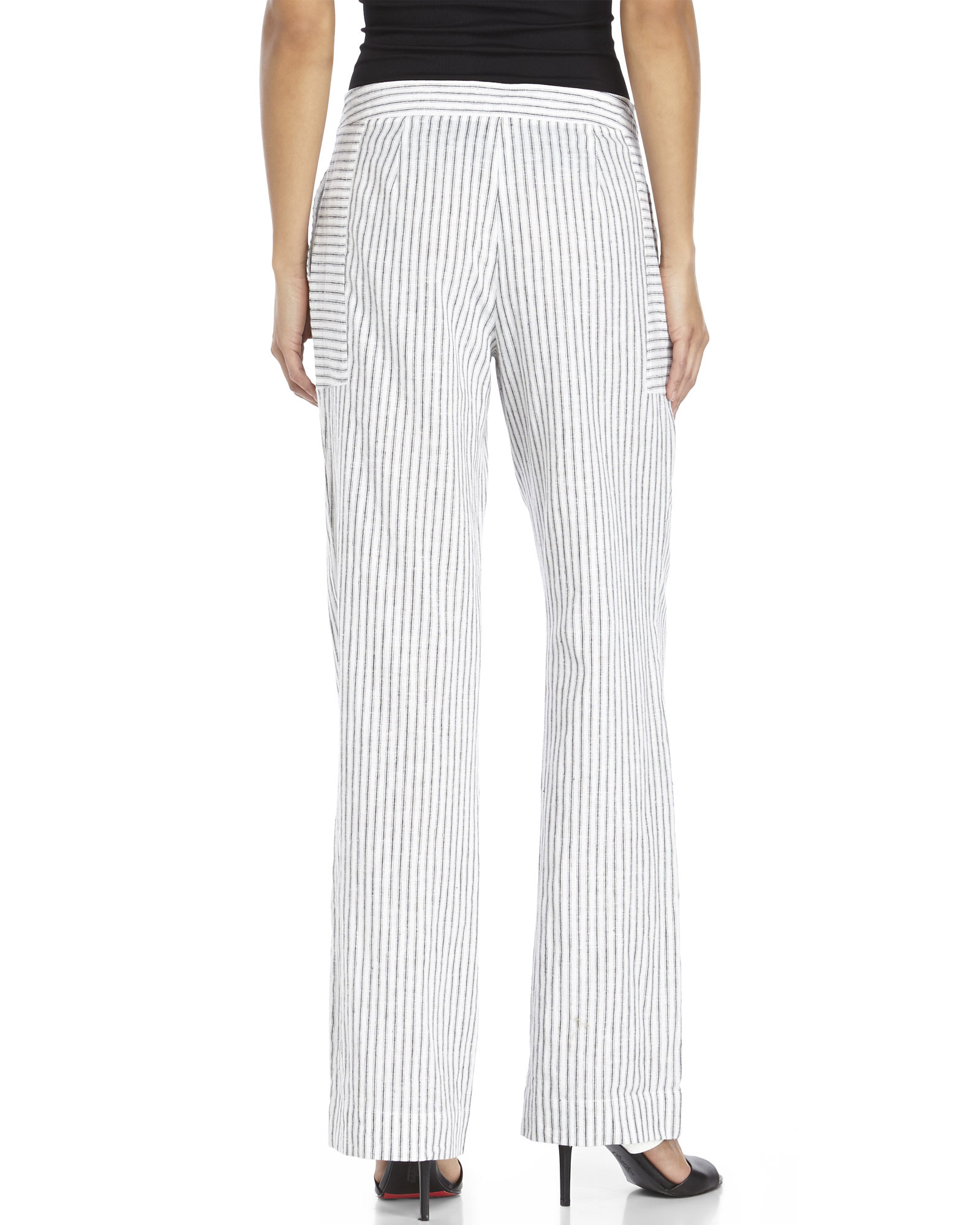 juniors white linen pants - Pi Pants