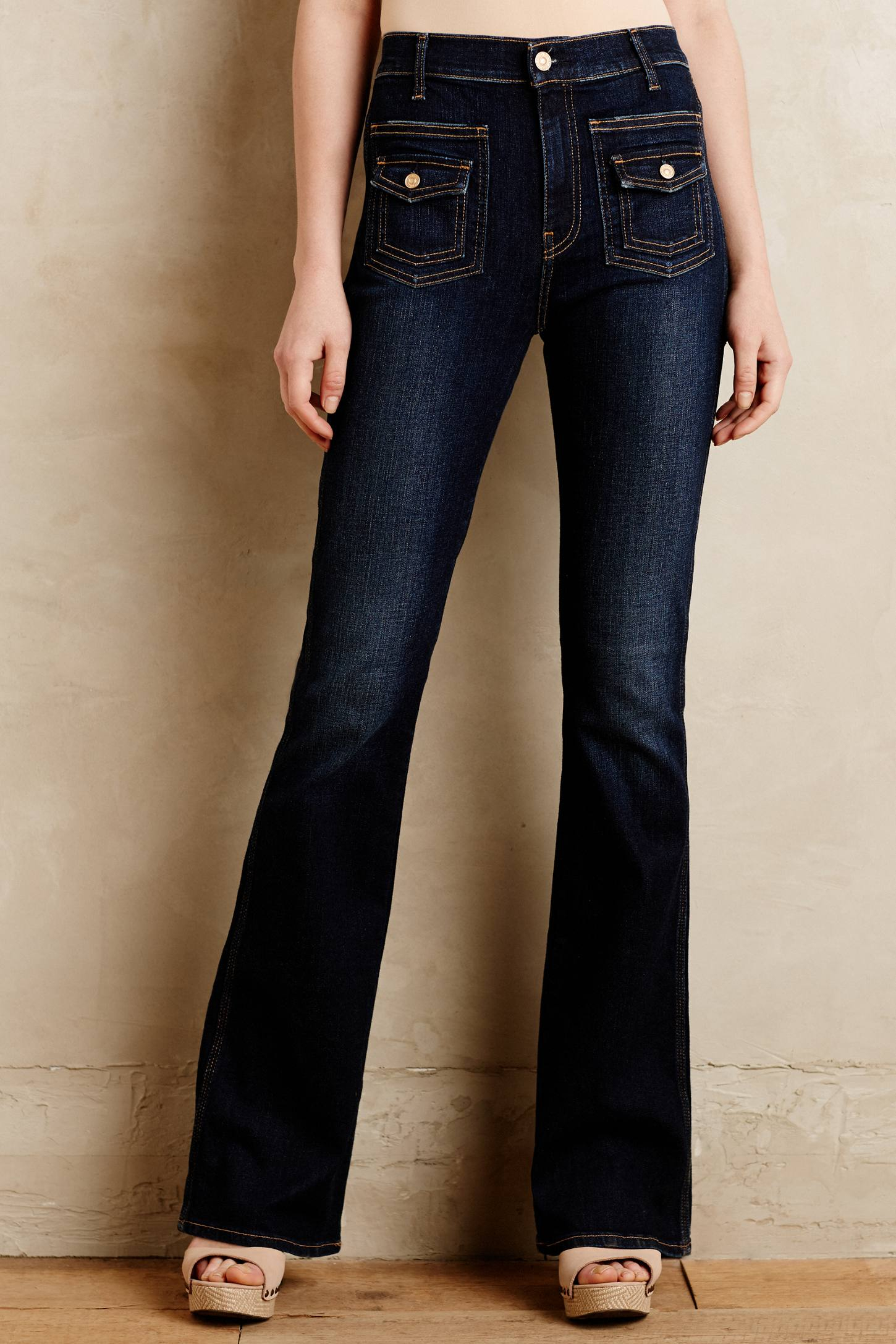 7 for all mankind Vintage Trouser Jeans in Blue | Lyst