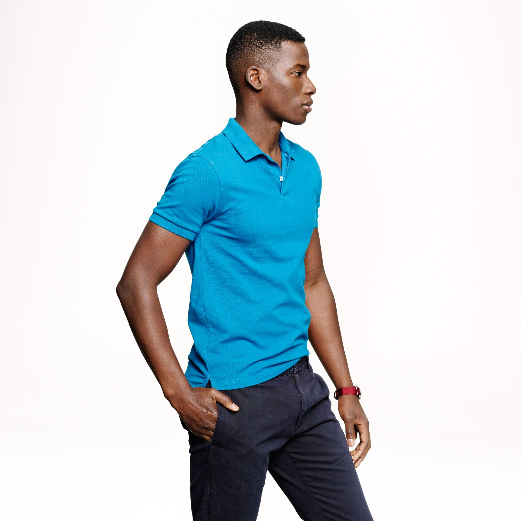 a73bbff6c J.Crew Slim Classic Piqué Polo in Blue for Men - Lyst