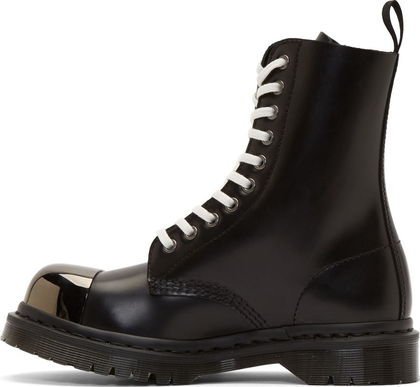 666870fe7 Martens Steel For Dr Toe Leather Black In Boots Lyst Men Grasp xwgHH