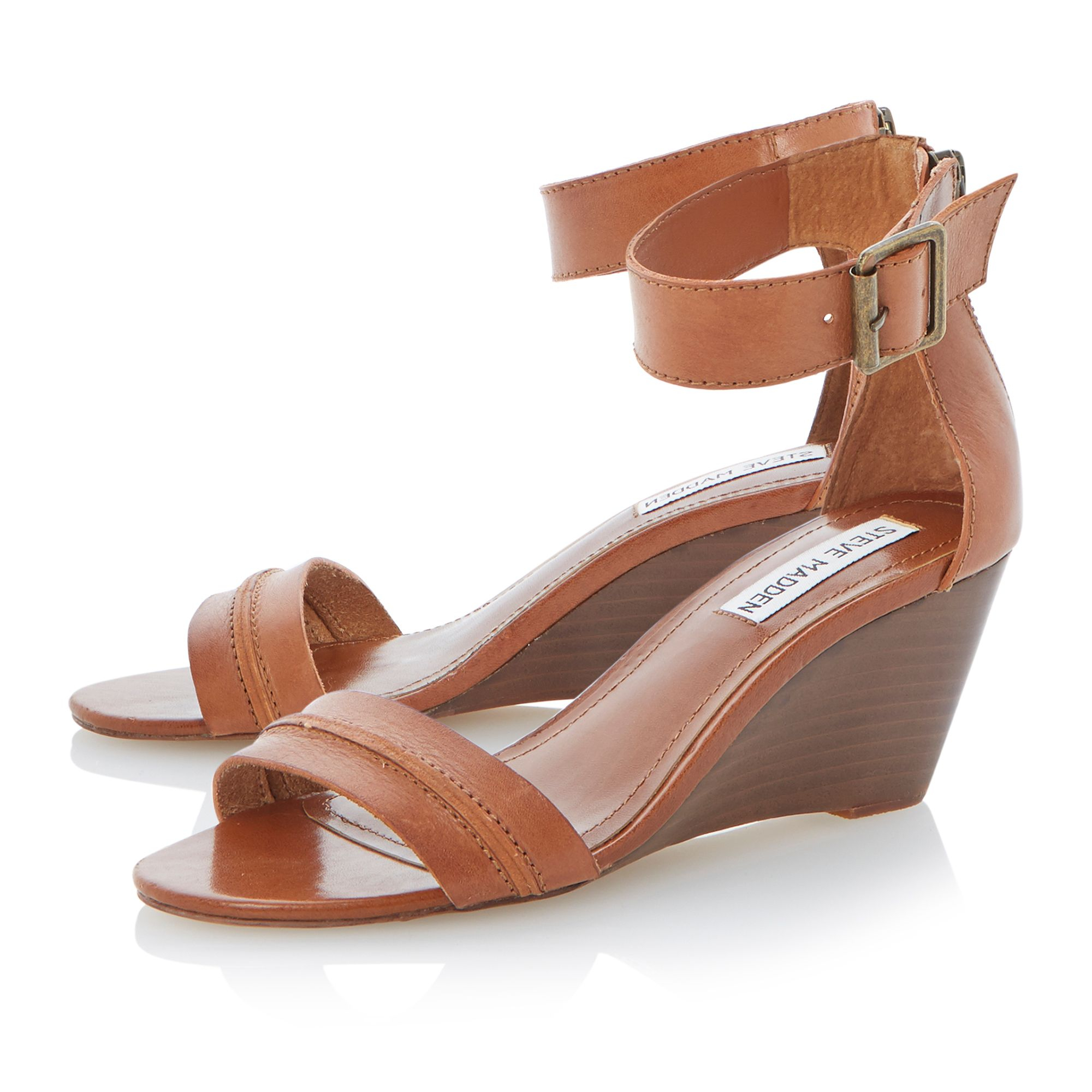 Brown Wedge Shoes Closed Toe