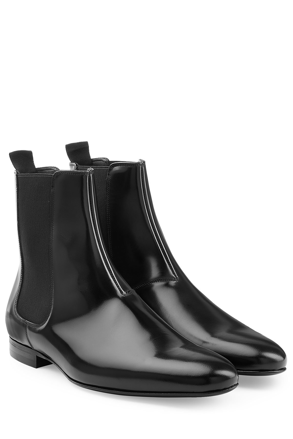 Burberry Patent Leather Chelsea Boots In Black For Men Lyst
