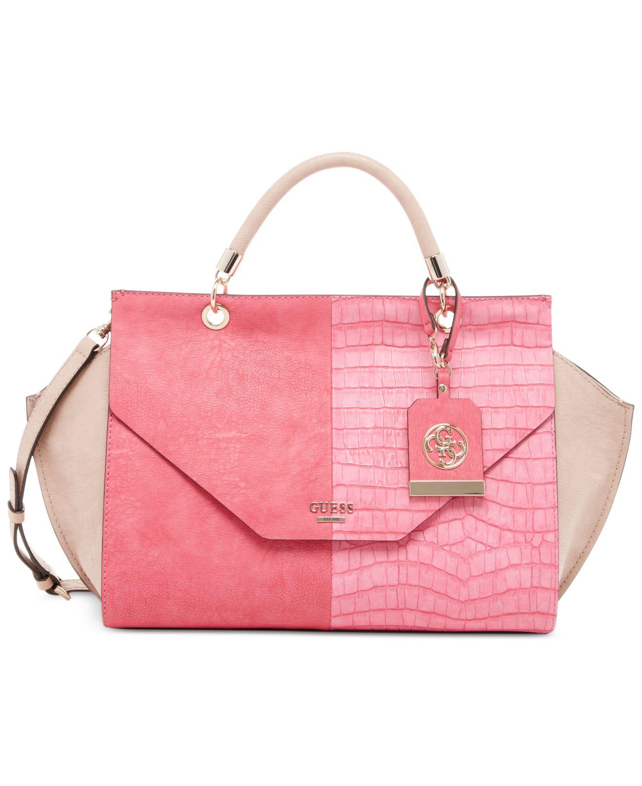 Lyst - Guess Casey Top Handle Flap Handbag in Pink 08fa81465f3b7