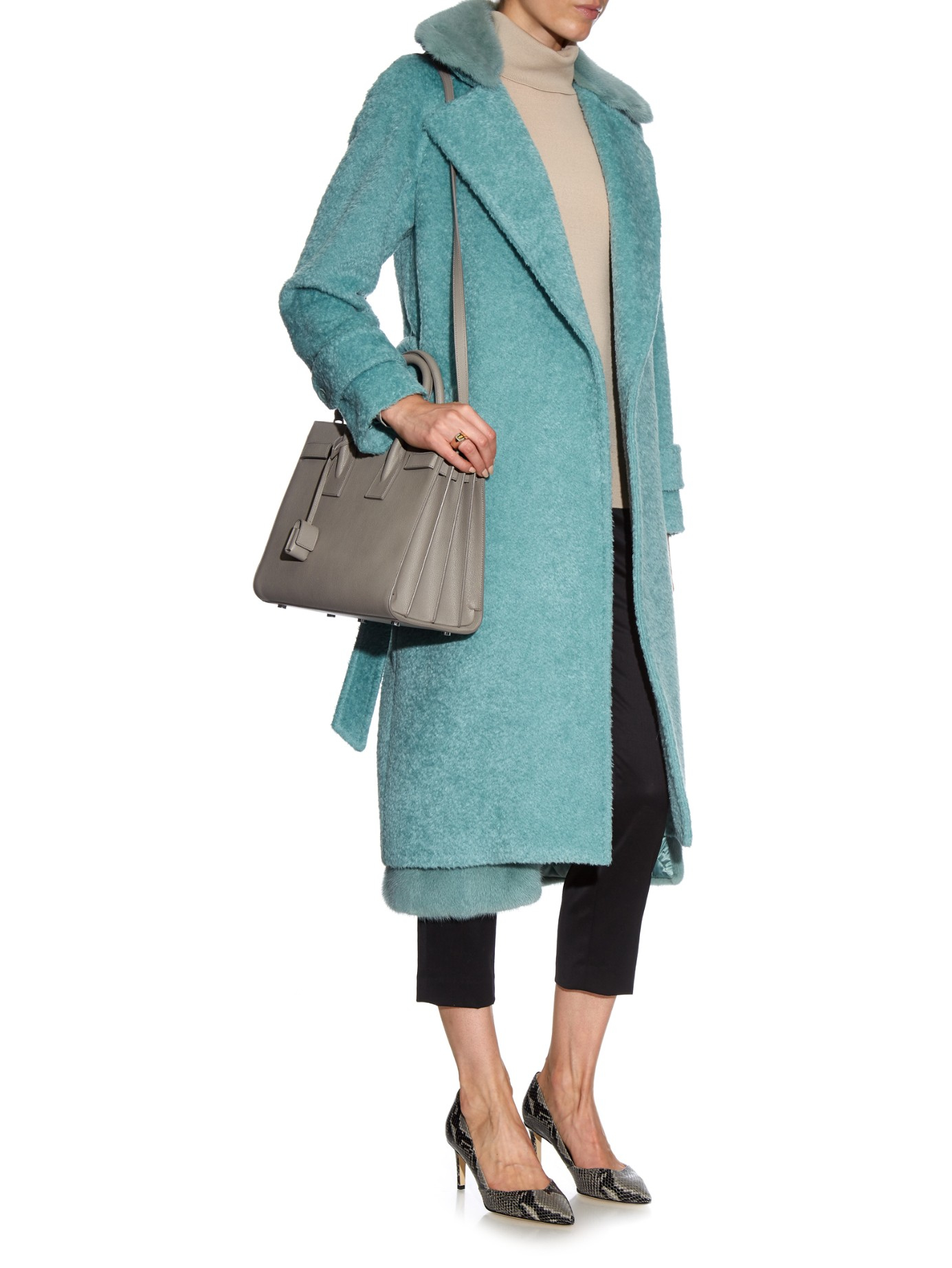 Max Mara Tay Coat In Blue Lyst