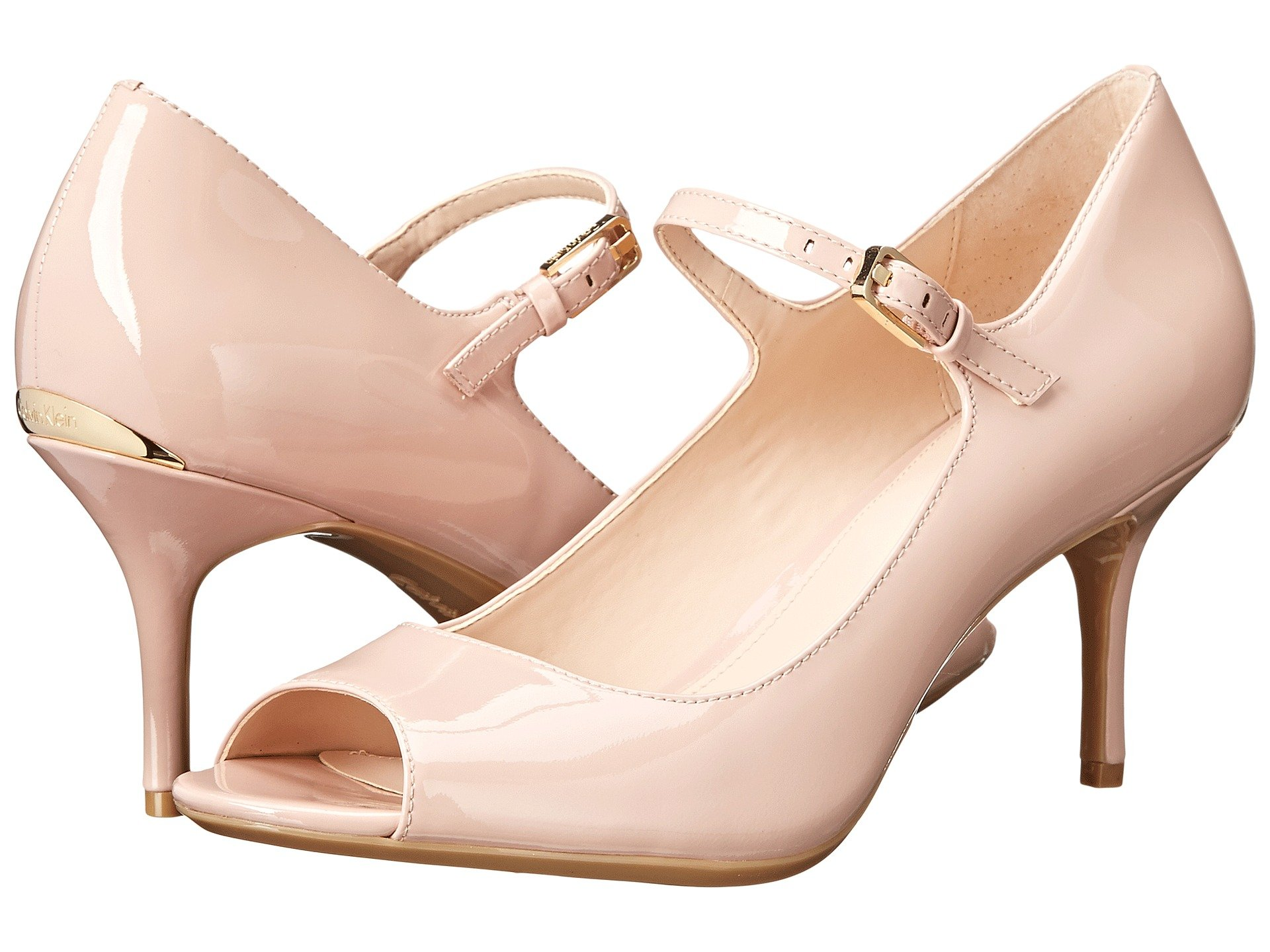 Womens Shoes Calvin Klein Leila Dusty Pink Patent