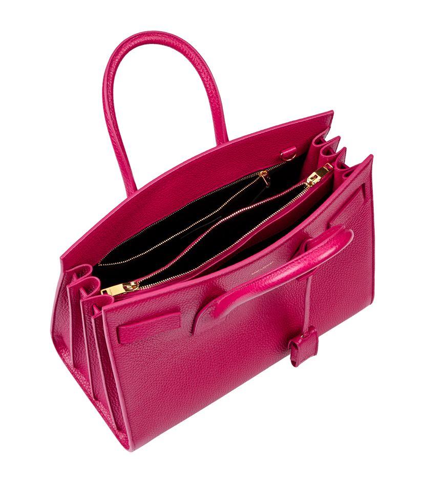 ysl patent clutch - sac de jour mini grained leather satchel bag, cobalt