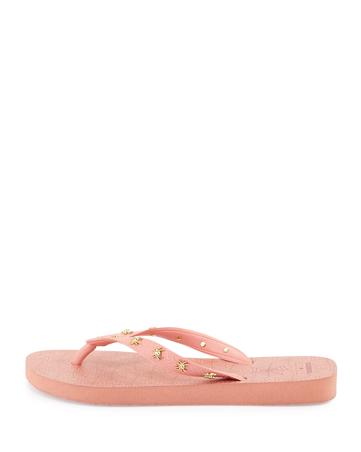 252580db7d35 Lyst - Charlotte Olympia Charlotte s Web Havaianas Light Rose Rubber ...